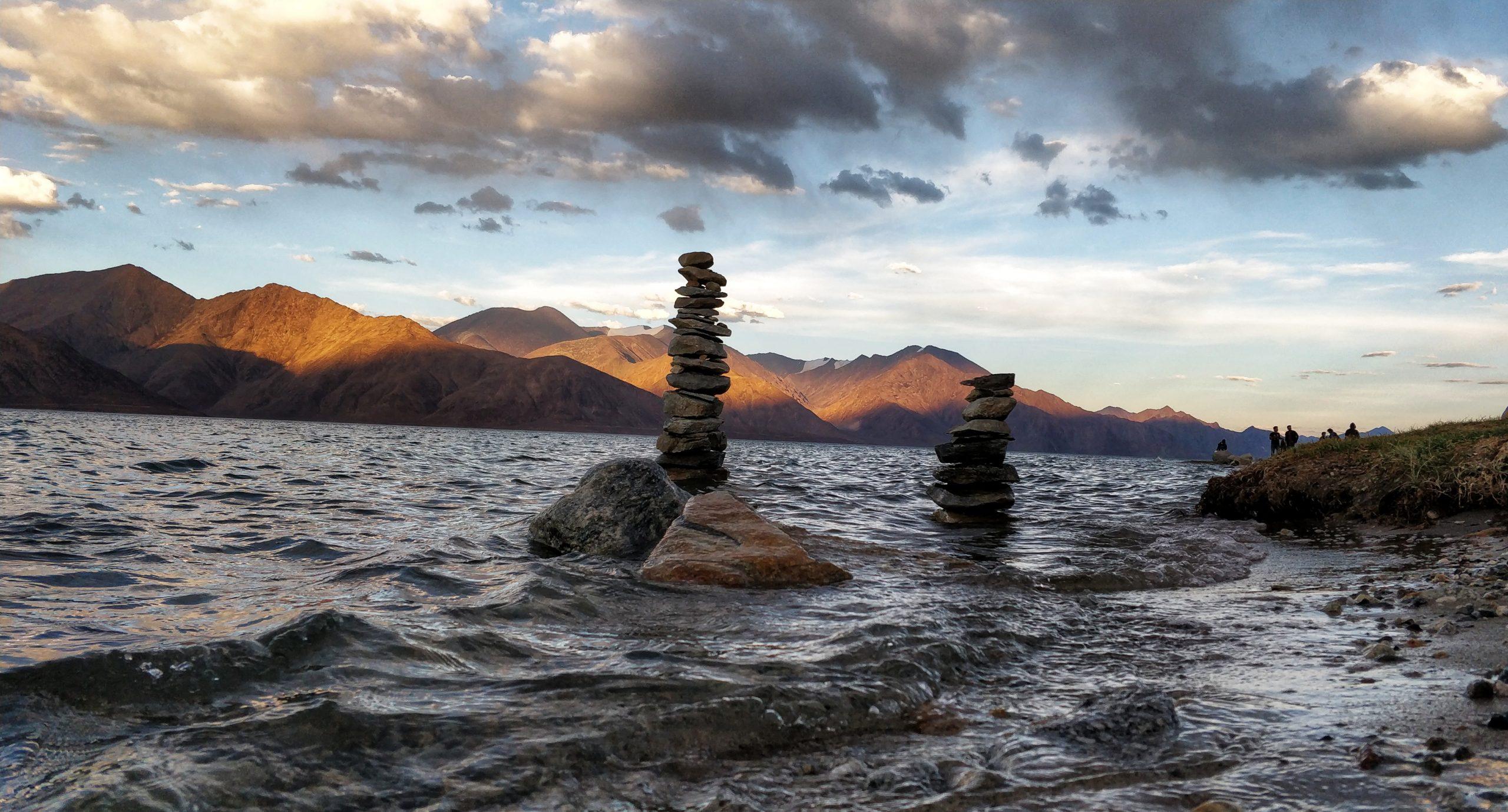 Pan gong Lake Ladakh India