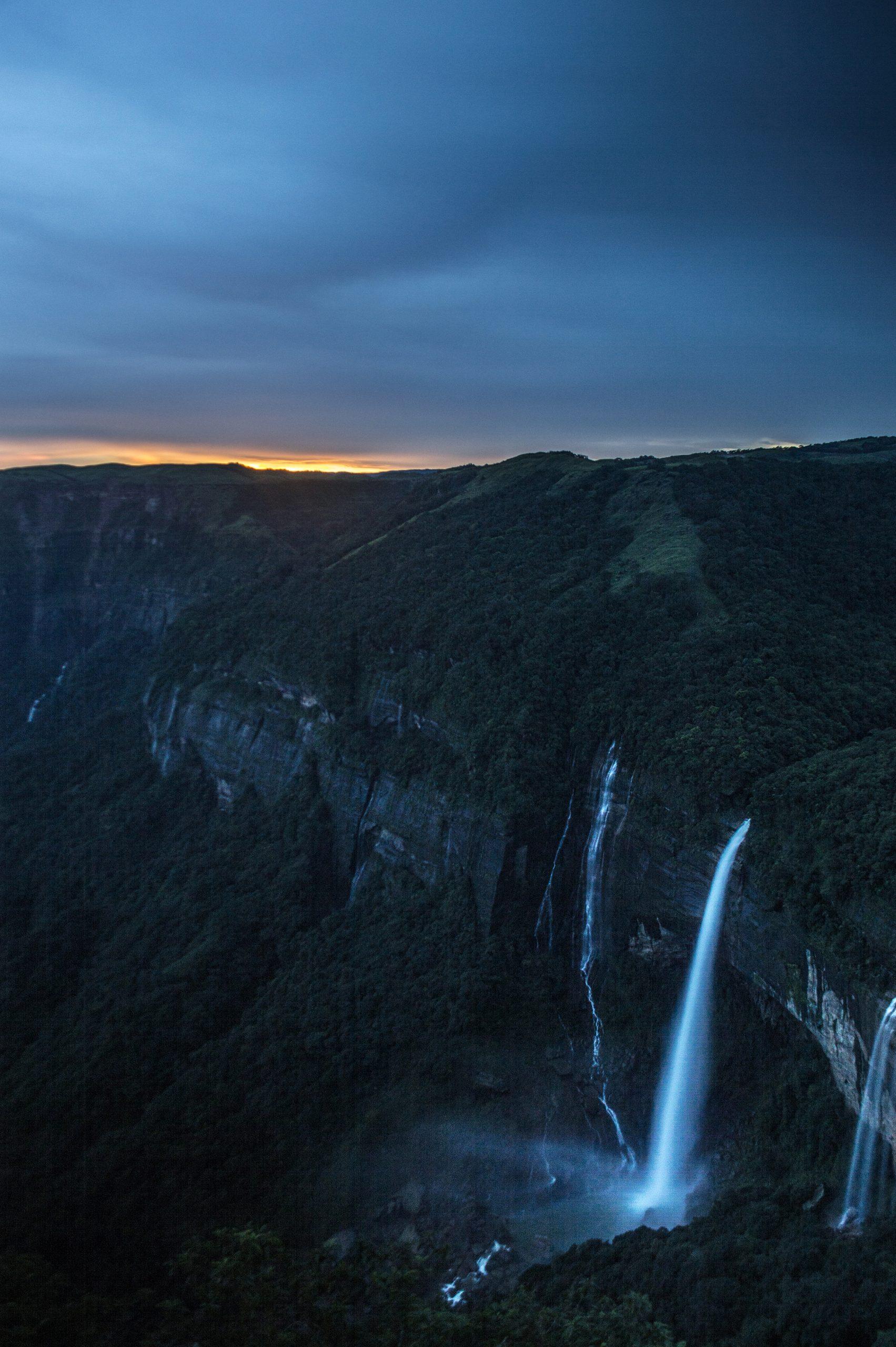 Portrait of beautiful waterfall