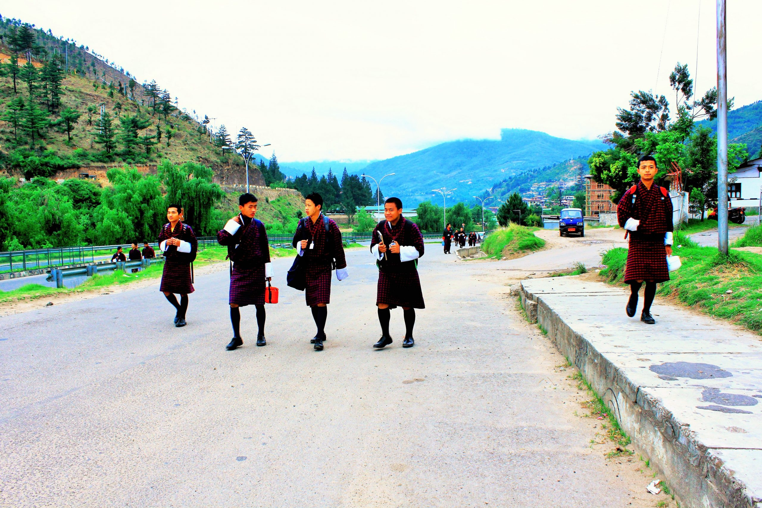 People at Bhutanees,Thimpu, Bhutan.