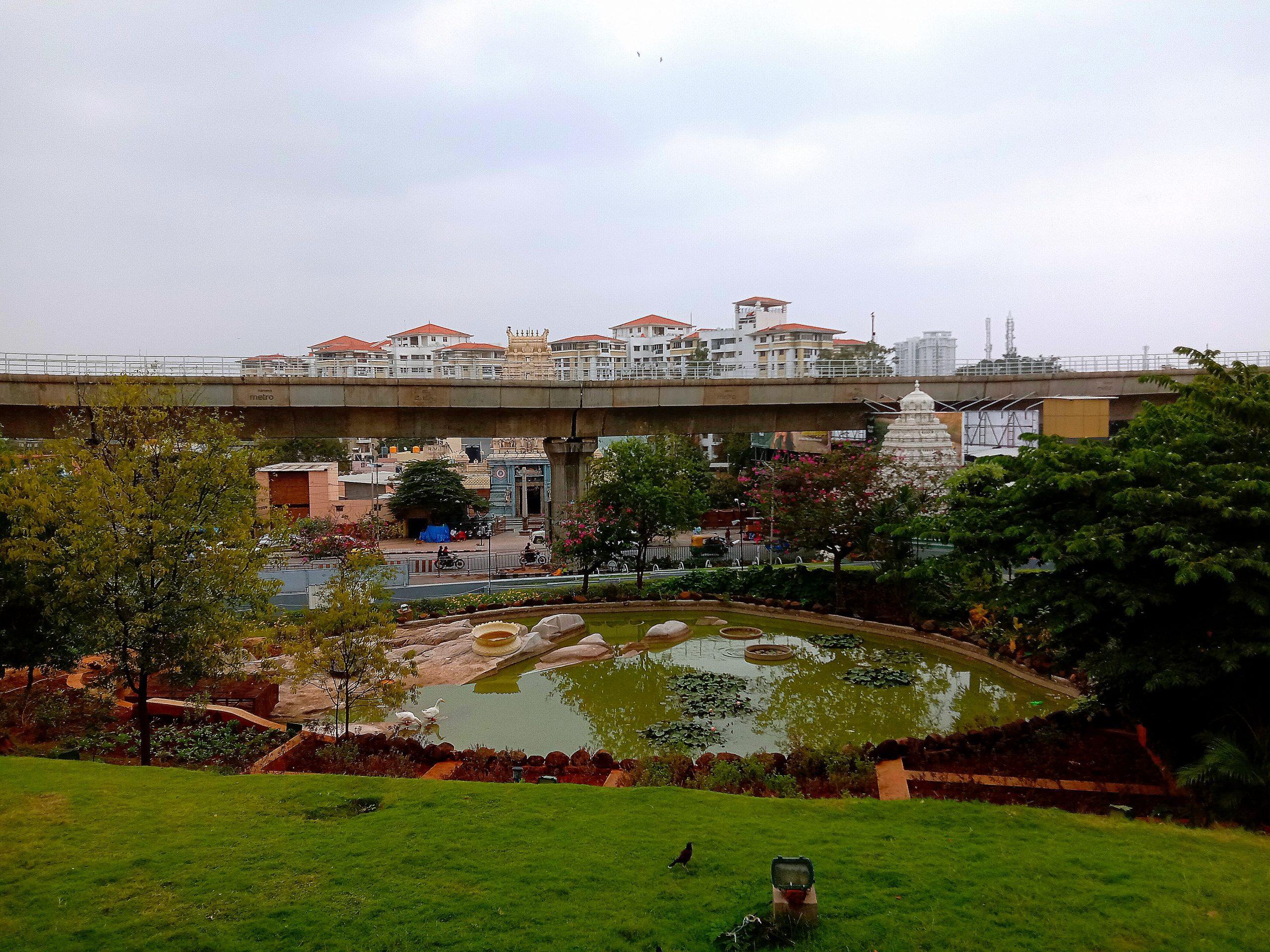 Pool in metro city