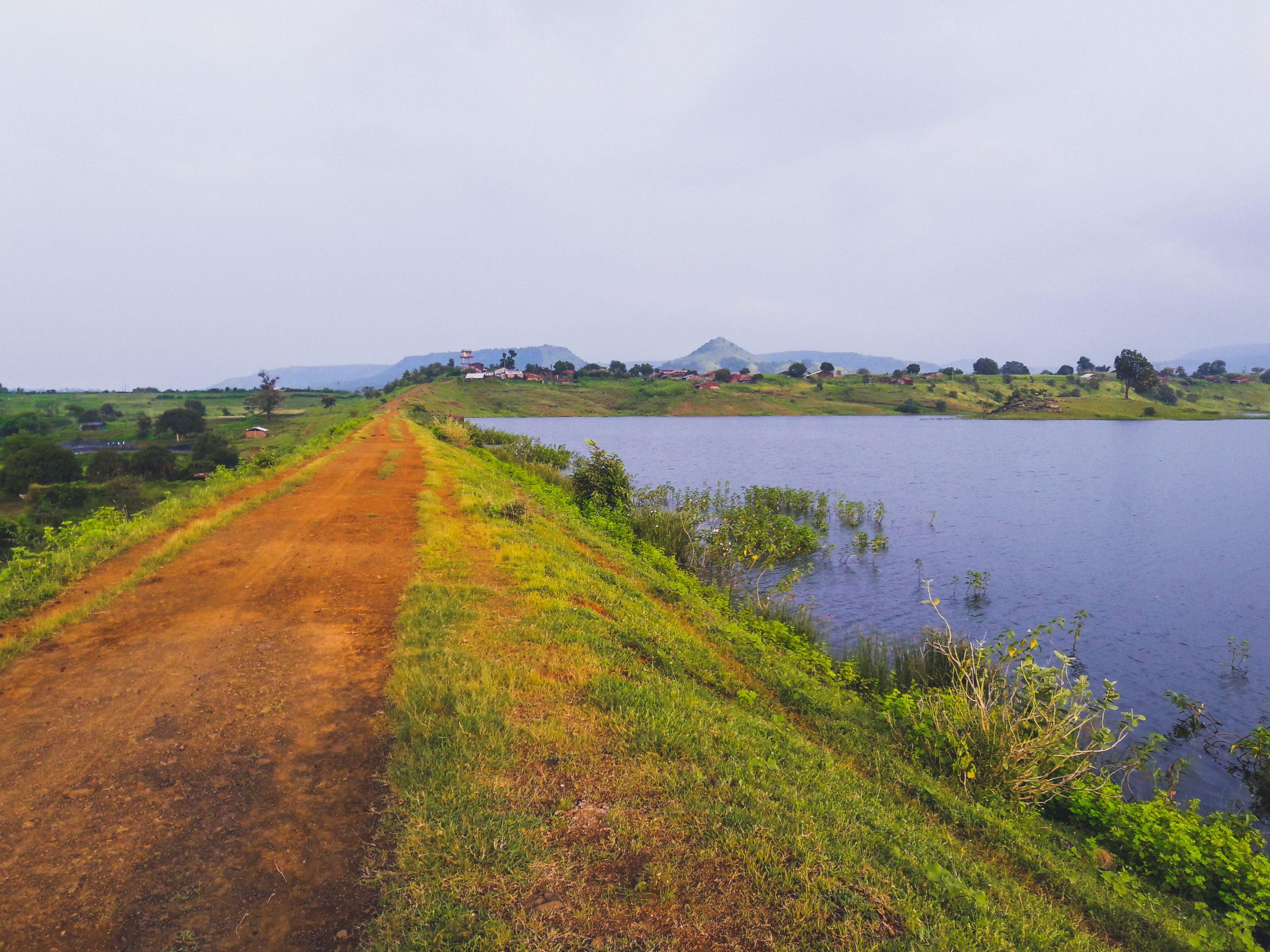 Road near a dam
