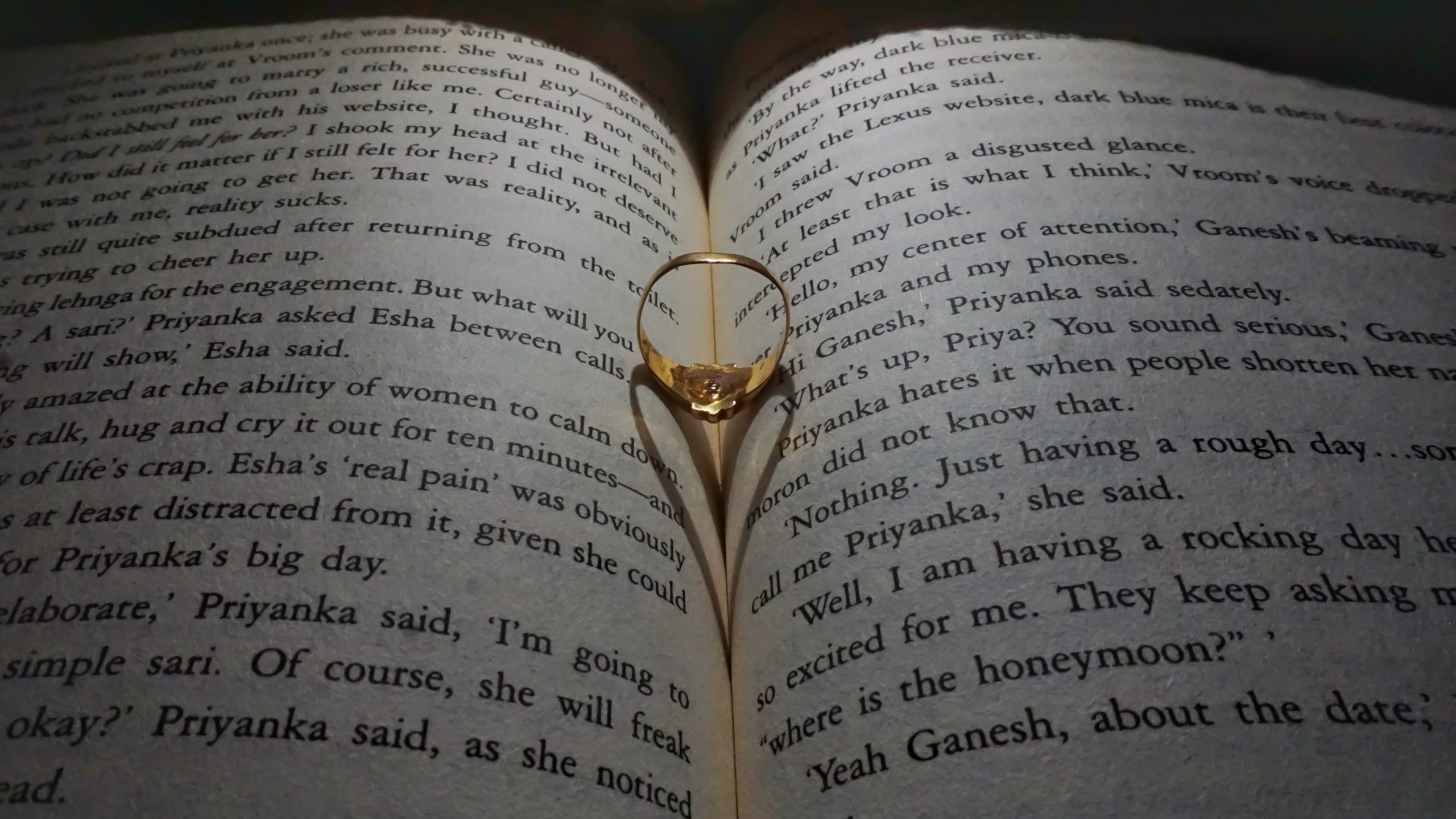 Ring on book