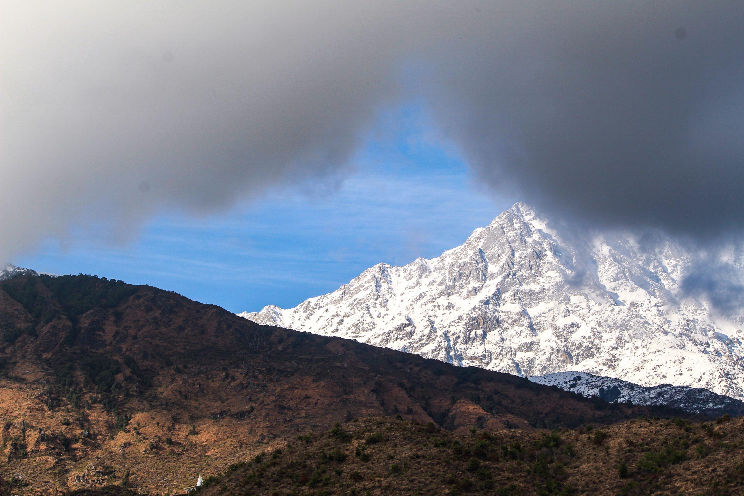 Snowy clouds landscape