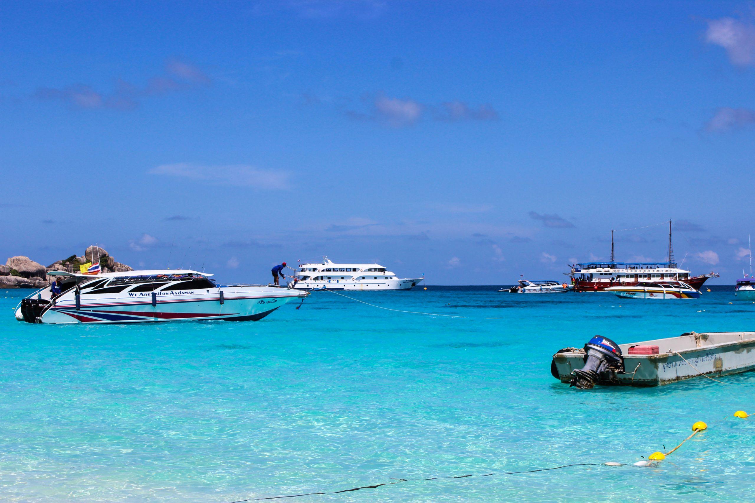 Speed boats in Sea
