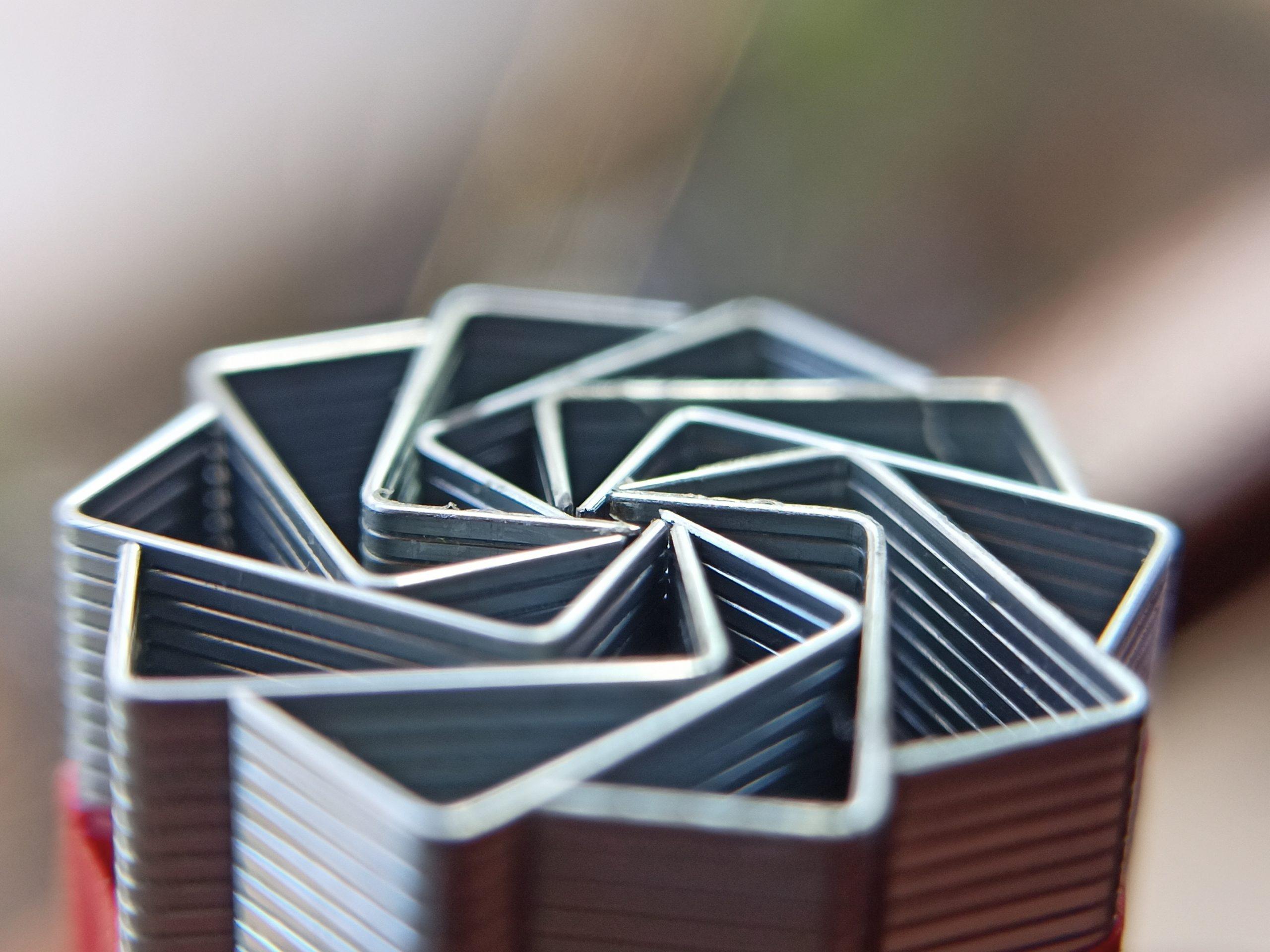 Stapler pins arranged in a pattern