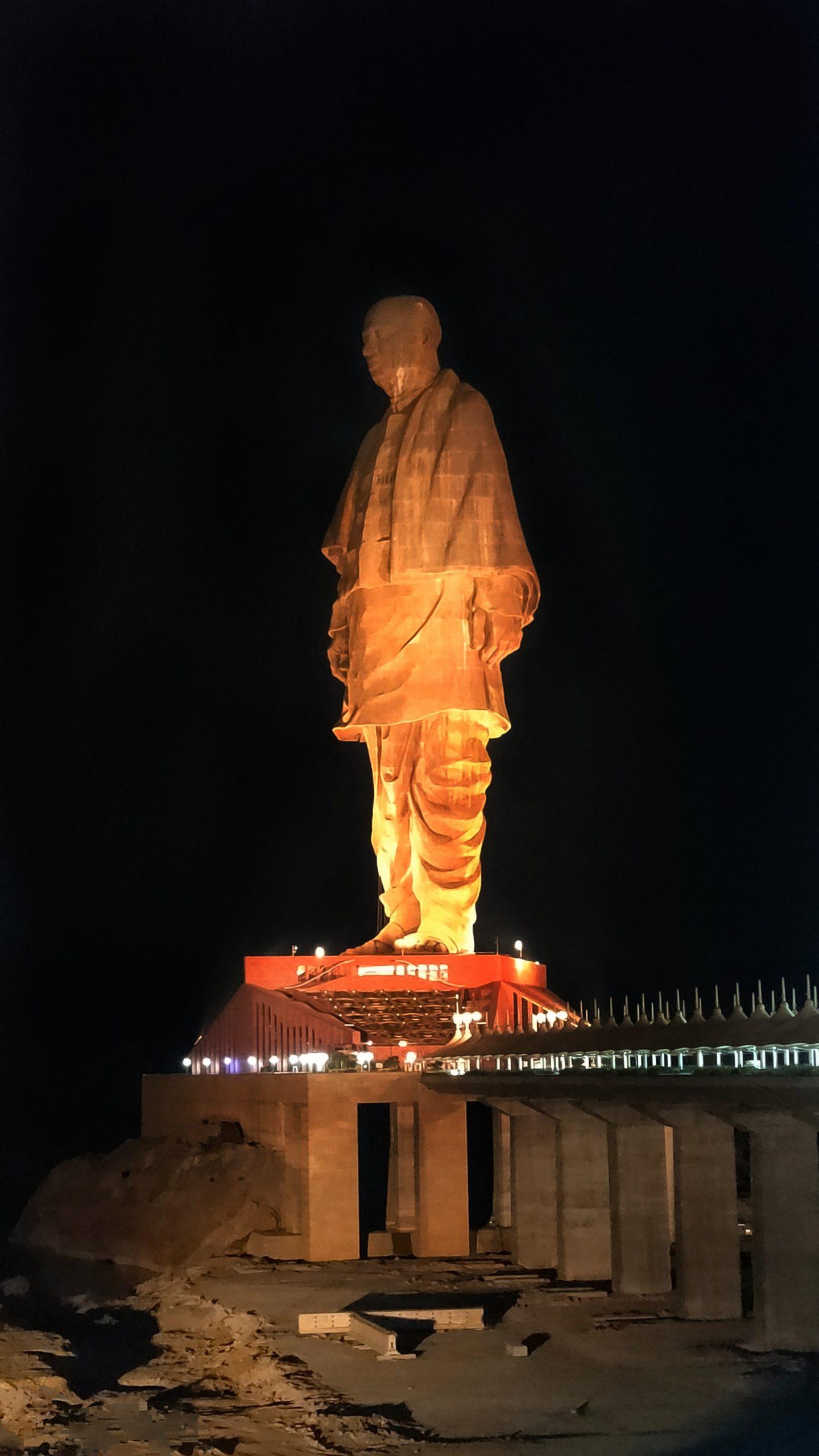 Statue of unite lighten up