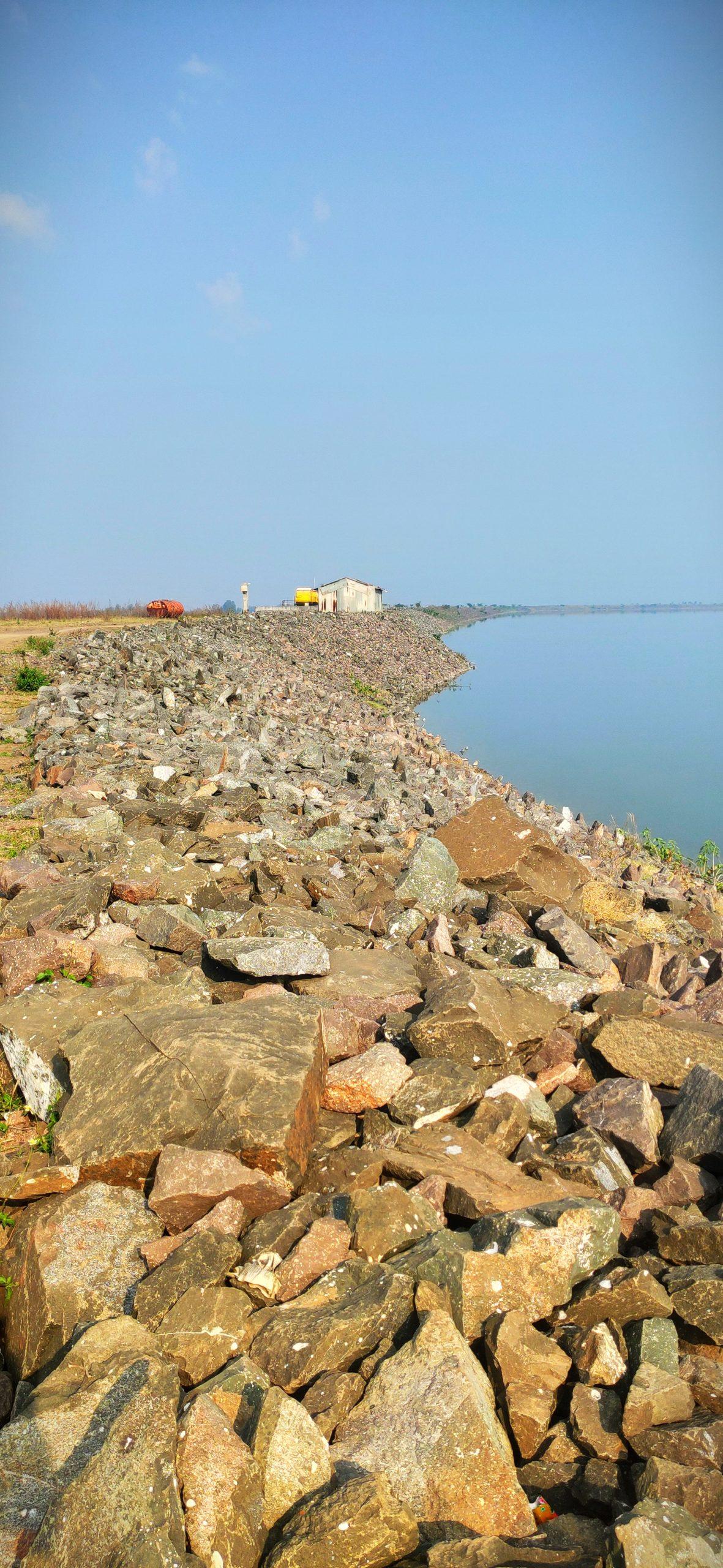 Stones at a riverbank