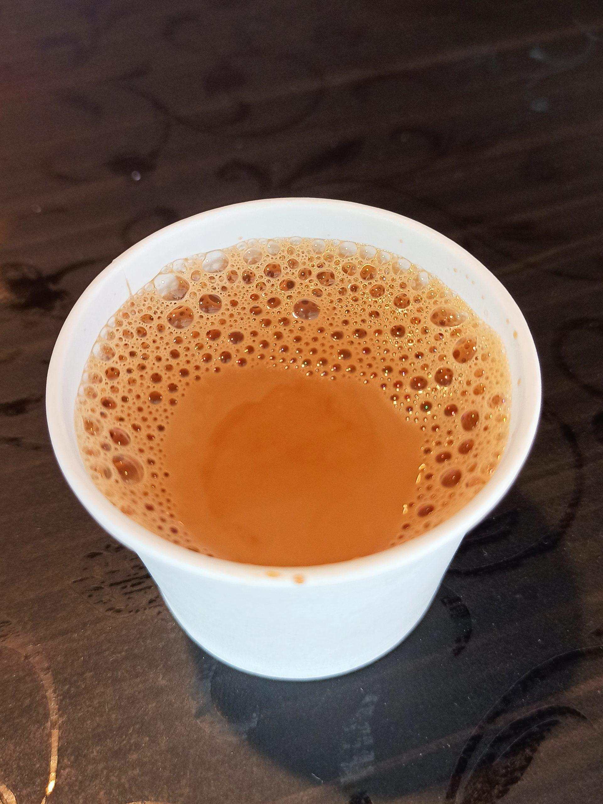Tea in paper cup