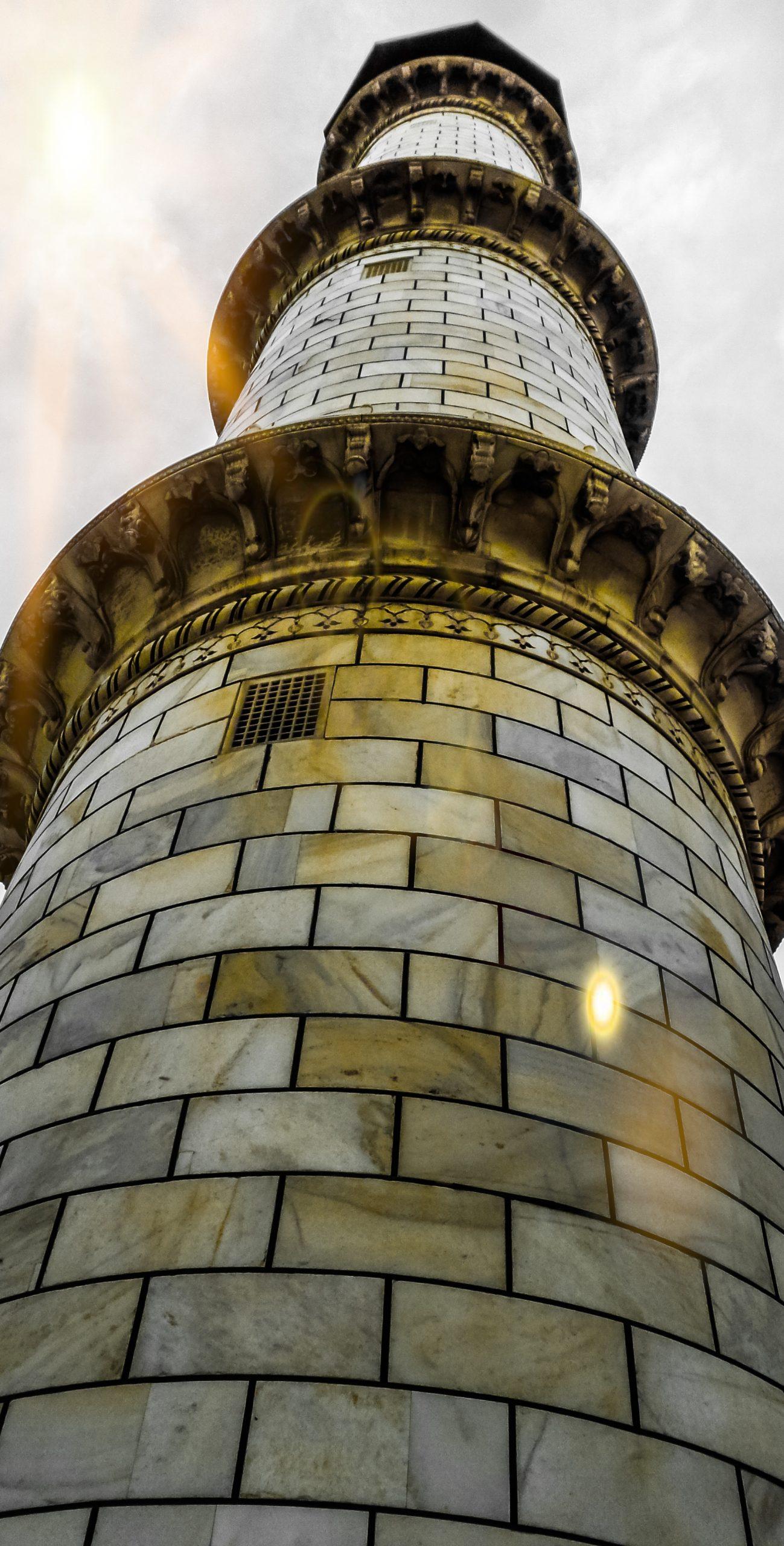 A minaret of Taj Mahal