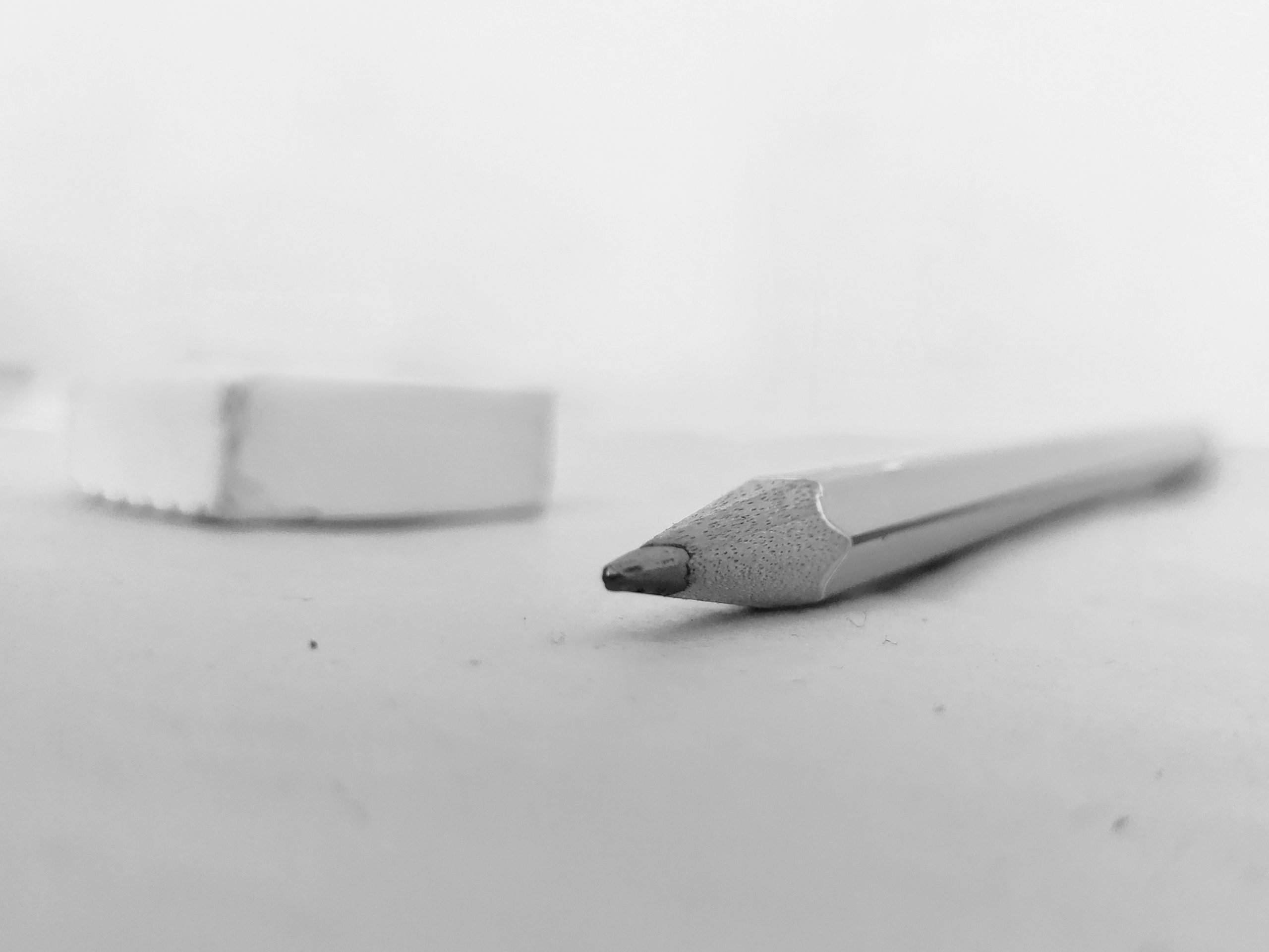 Tip of a pencil
