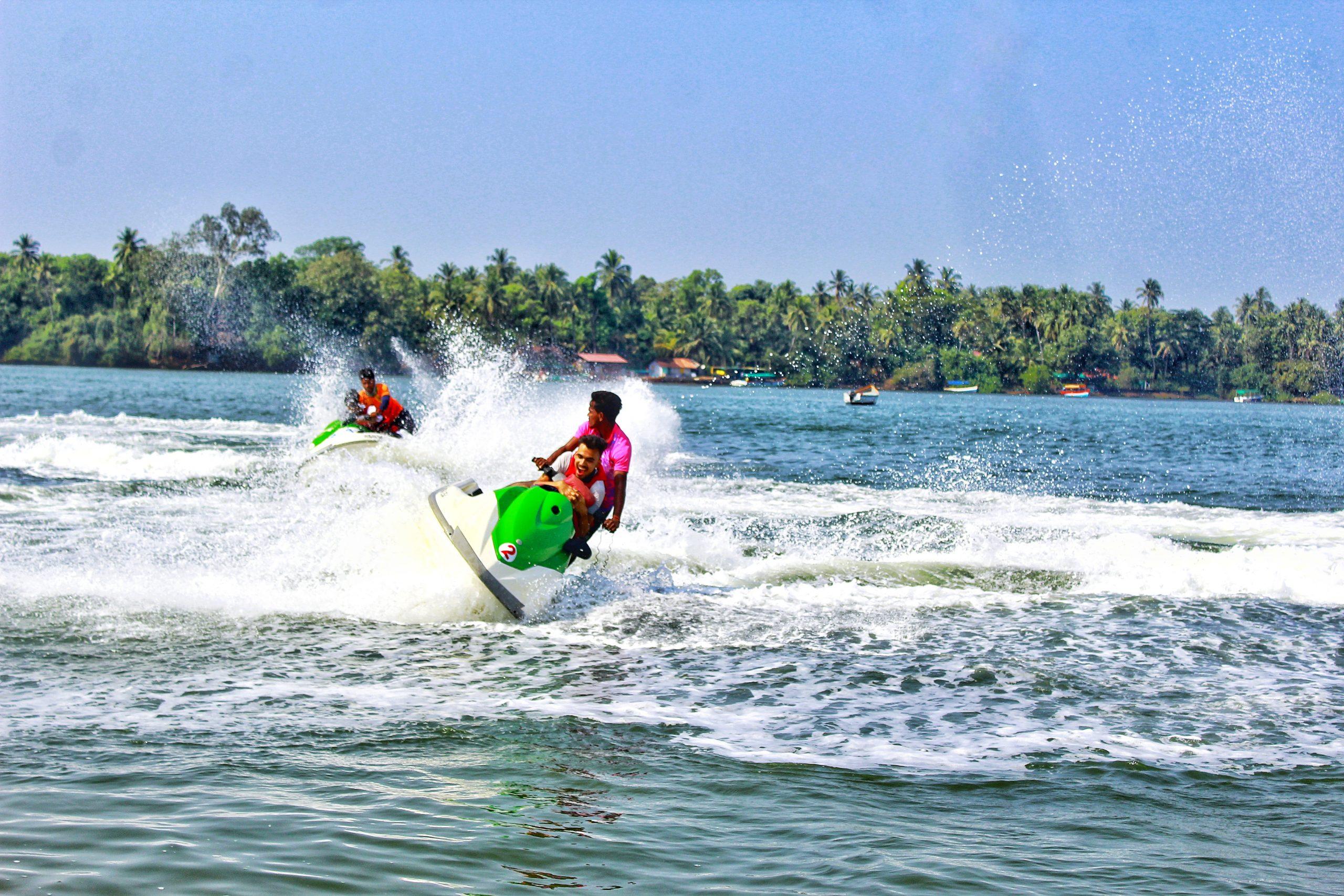 Water sporting in Sea