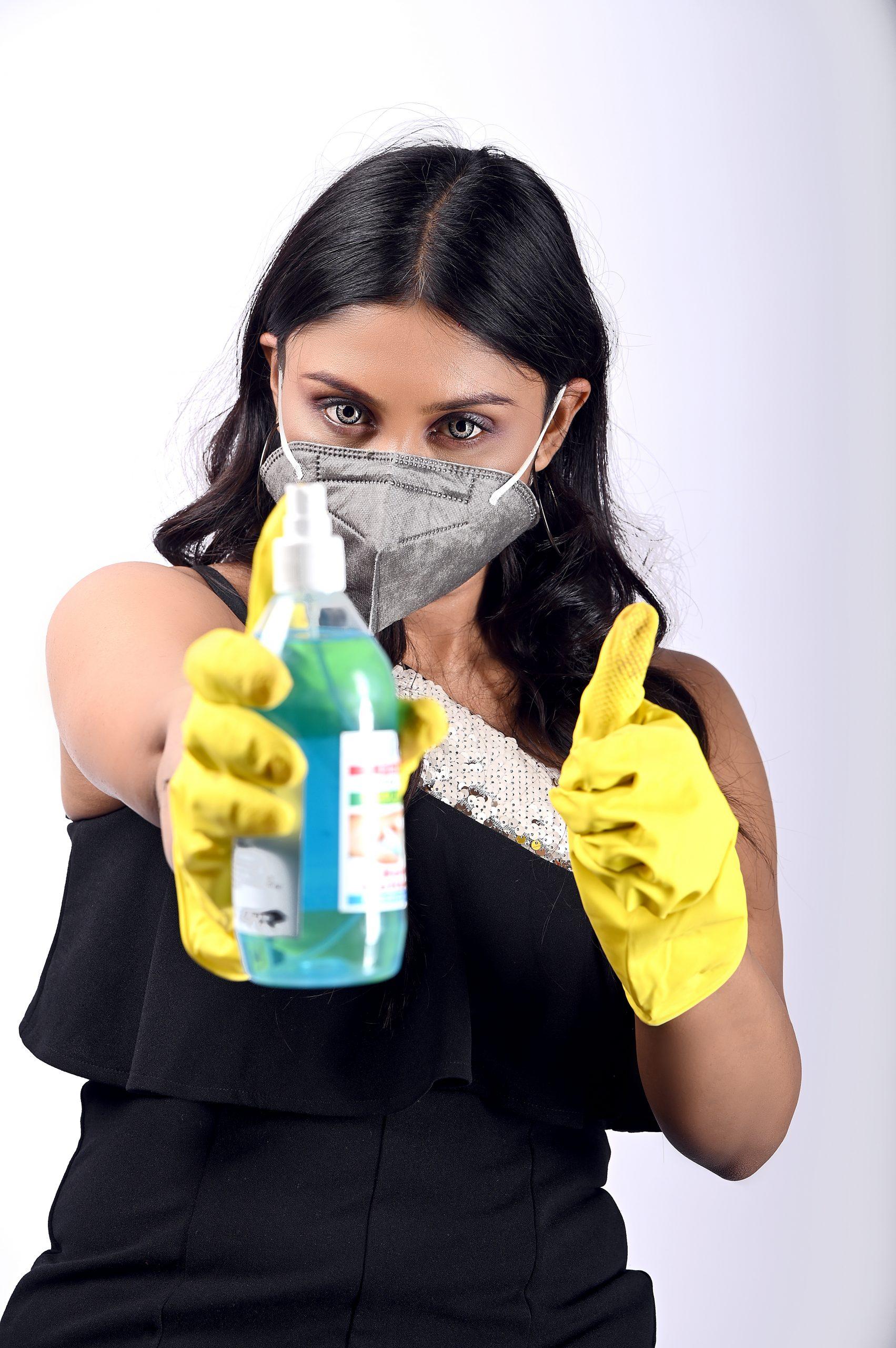 Use mask and sanitizer