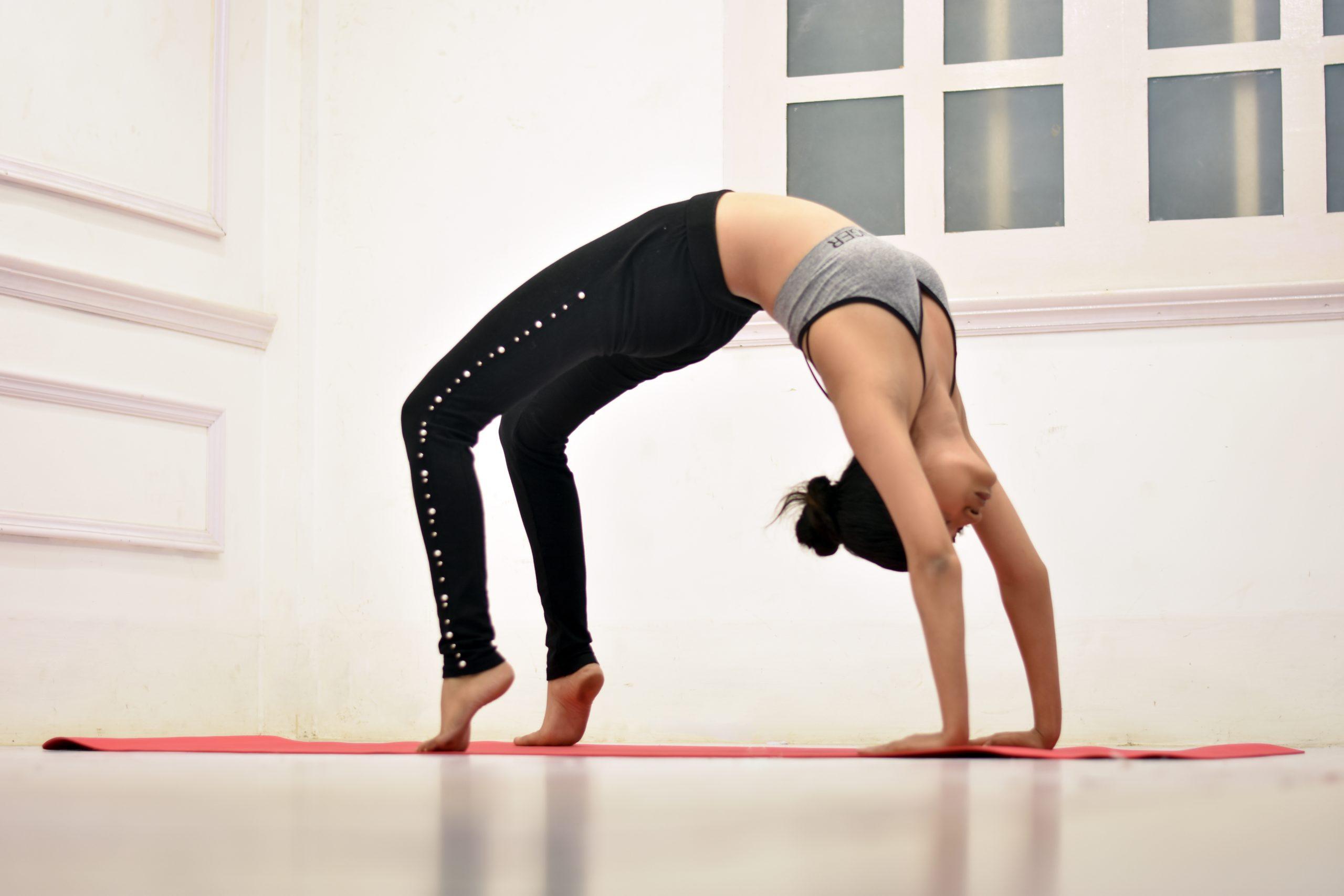 Chakrasana wheel pose yoga