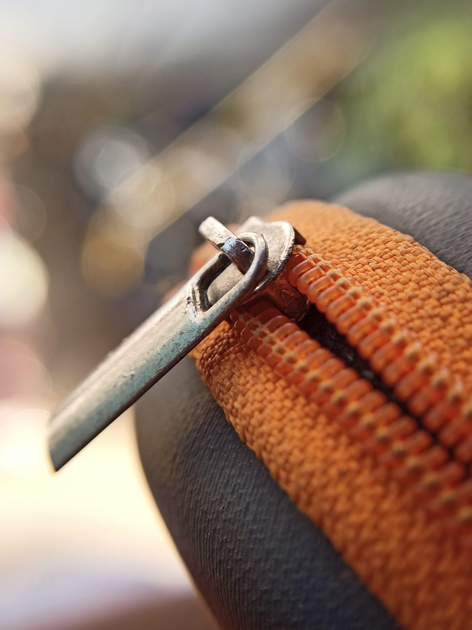 Zip of a bag
