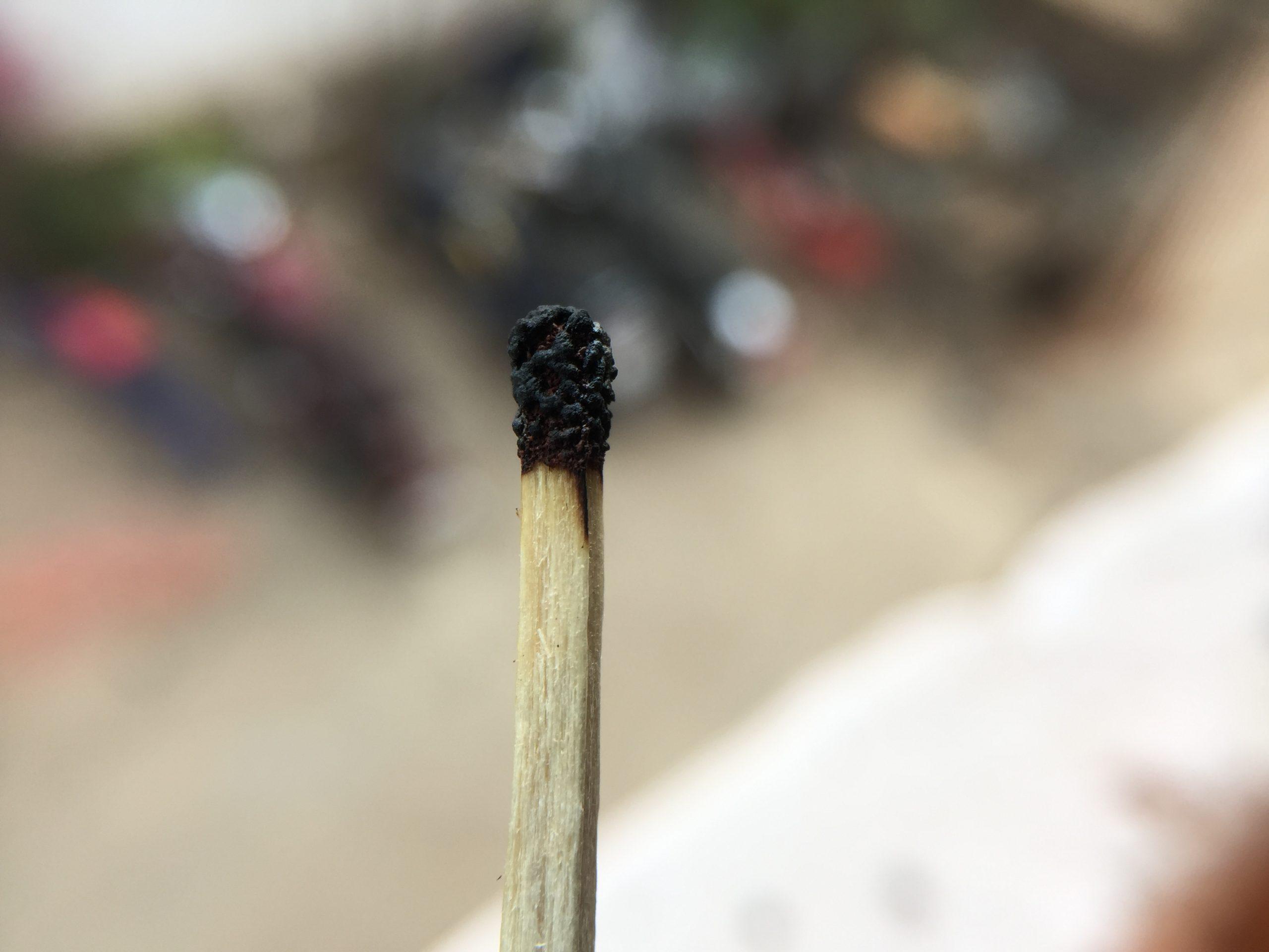 burnt matchstick