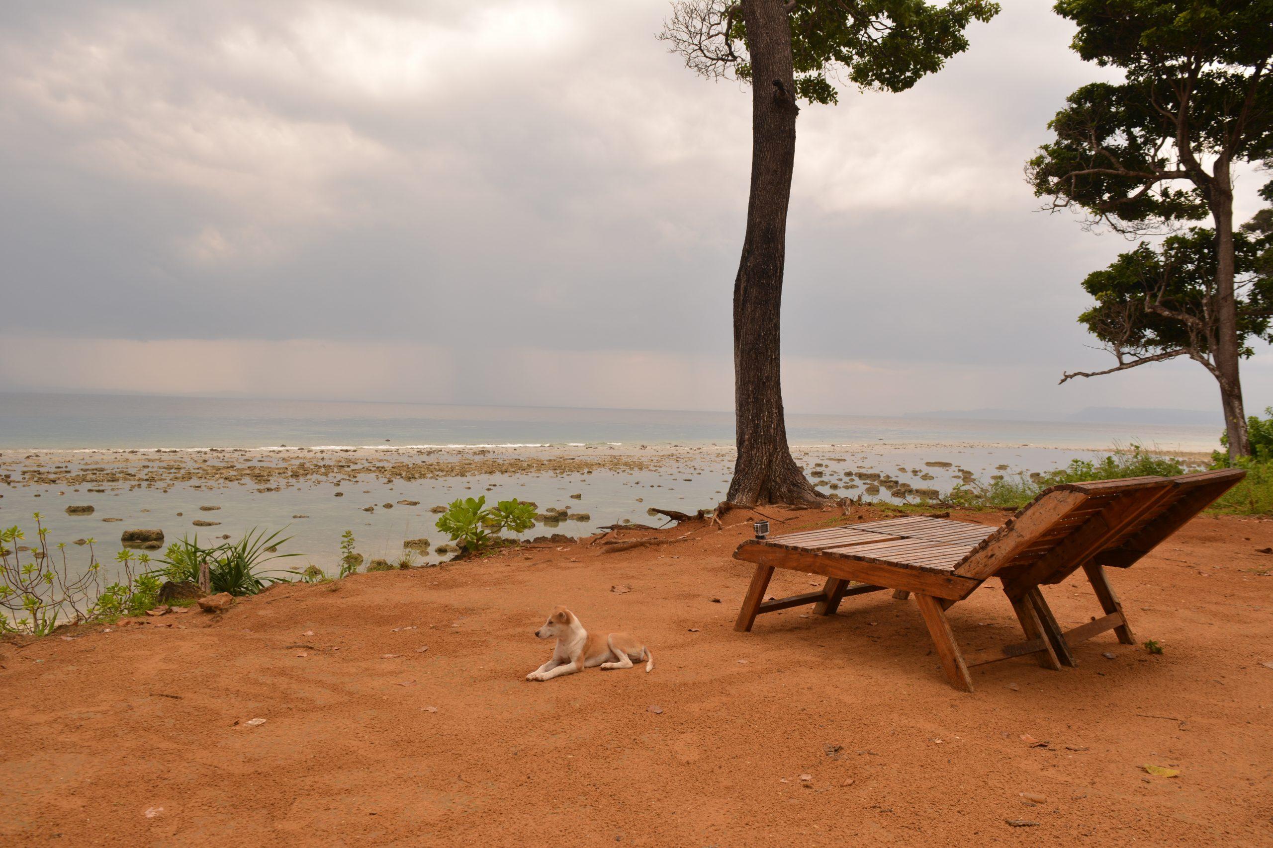 Beach during rainy season