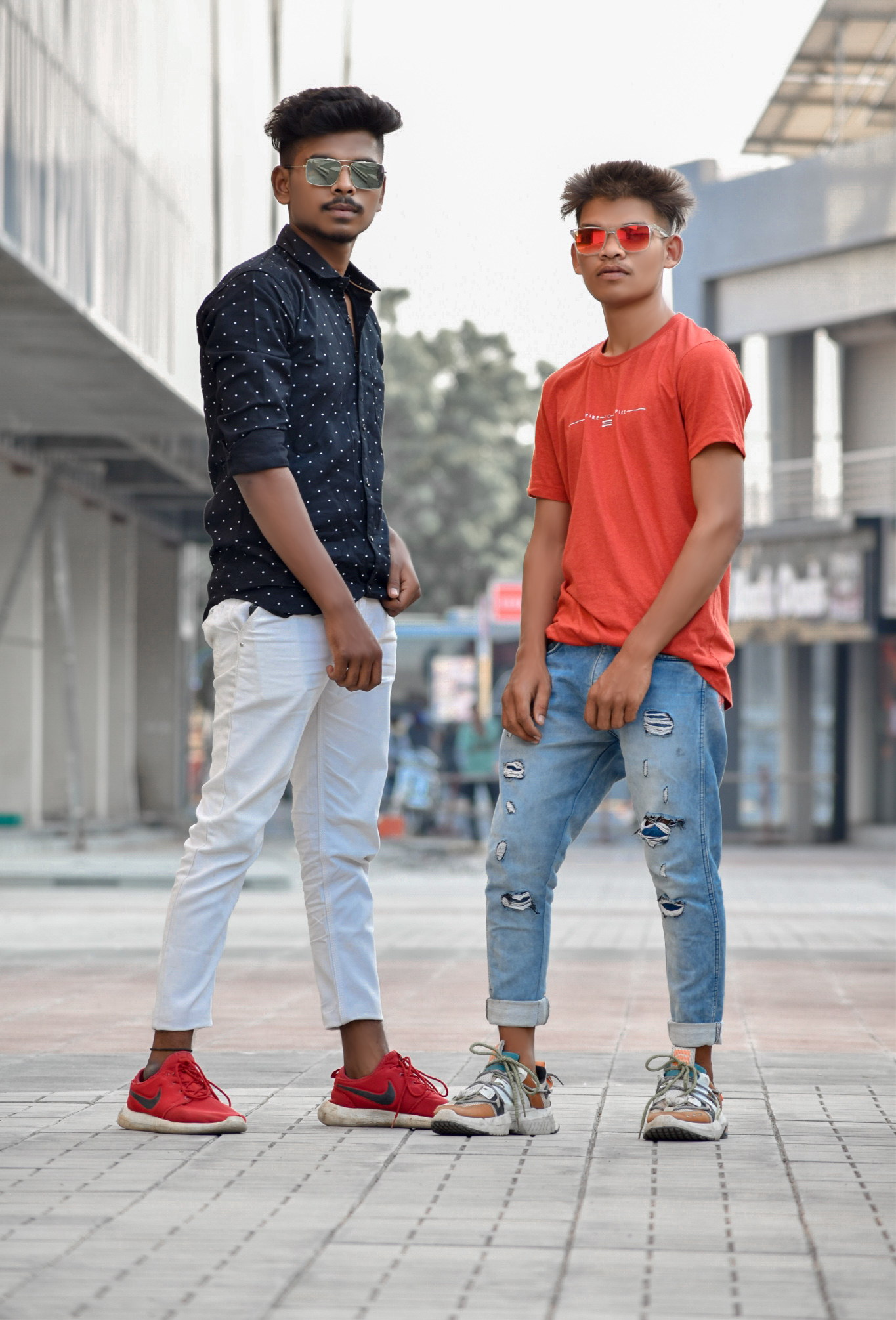 Two stylish boy