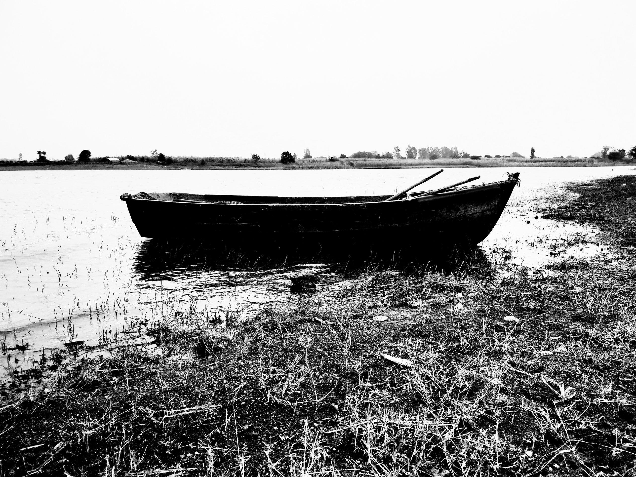 A boat at a shore