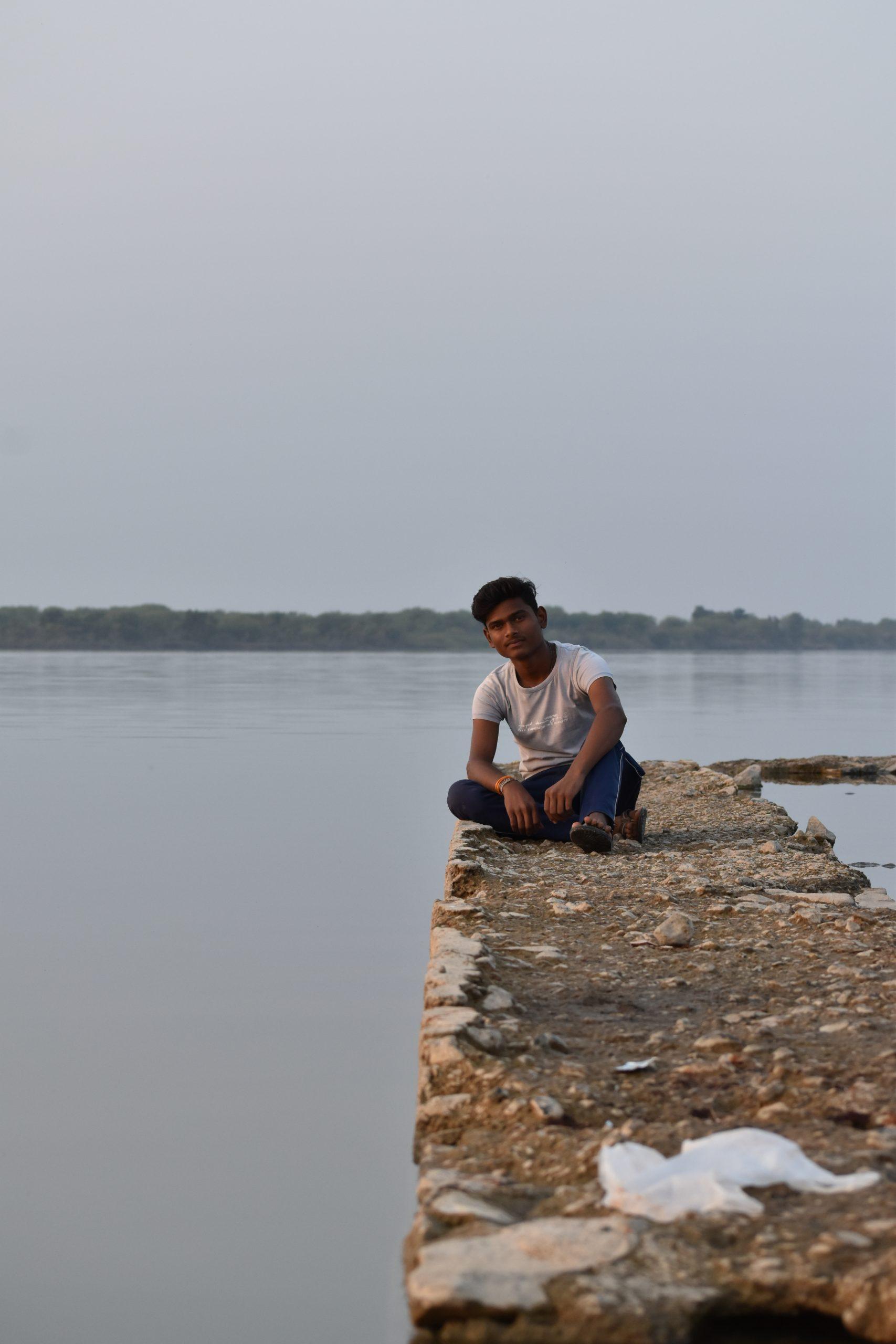 A boy at a river