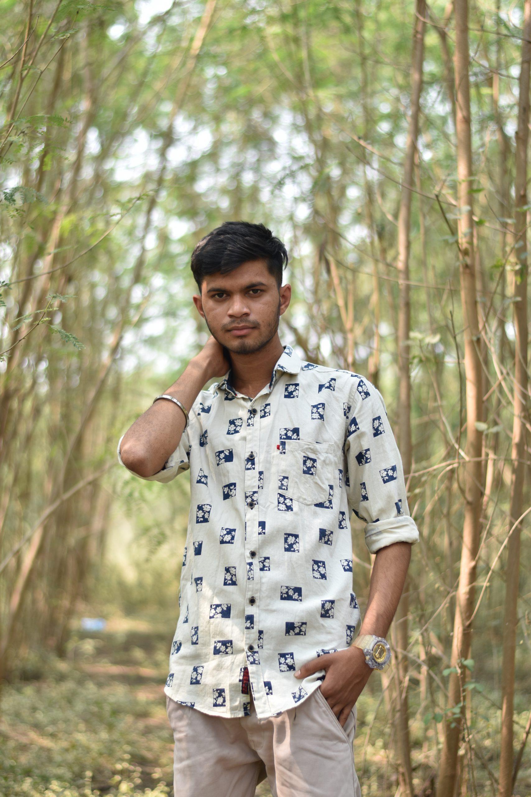 A boy in a jungle
