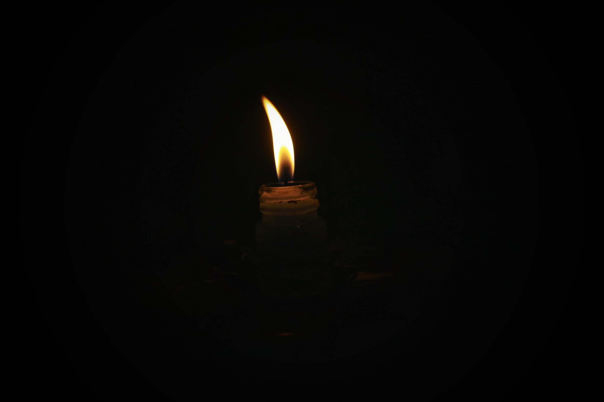 A candle flame