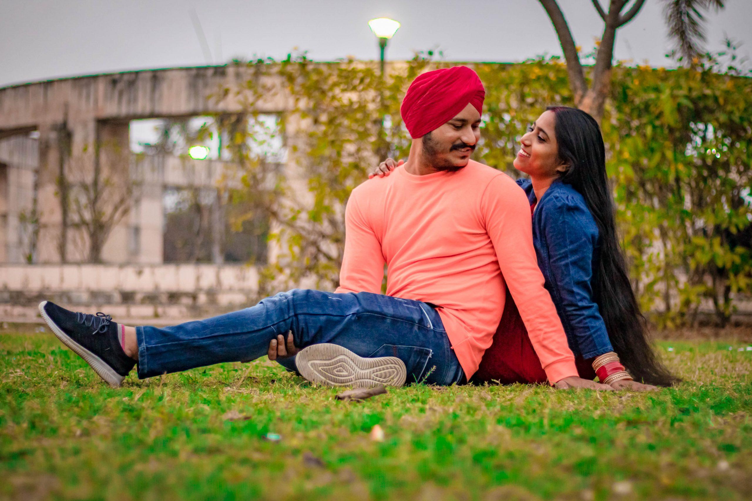 A couple in a garden