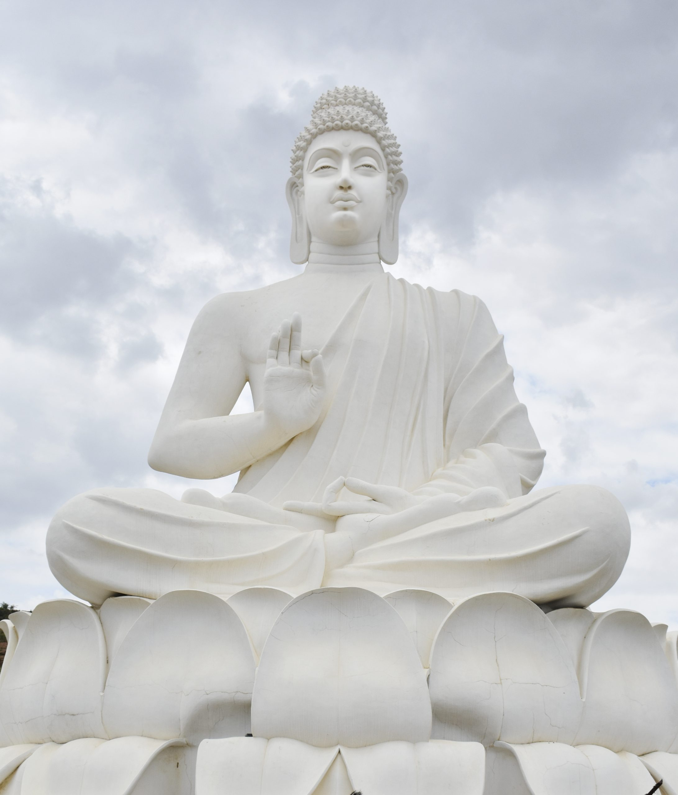 A giant statue of a Buddha