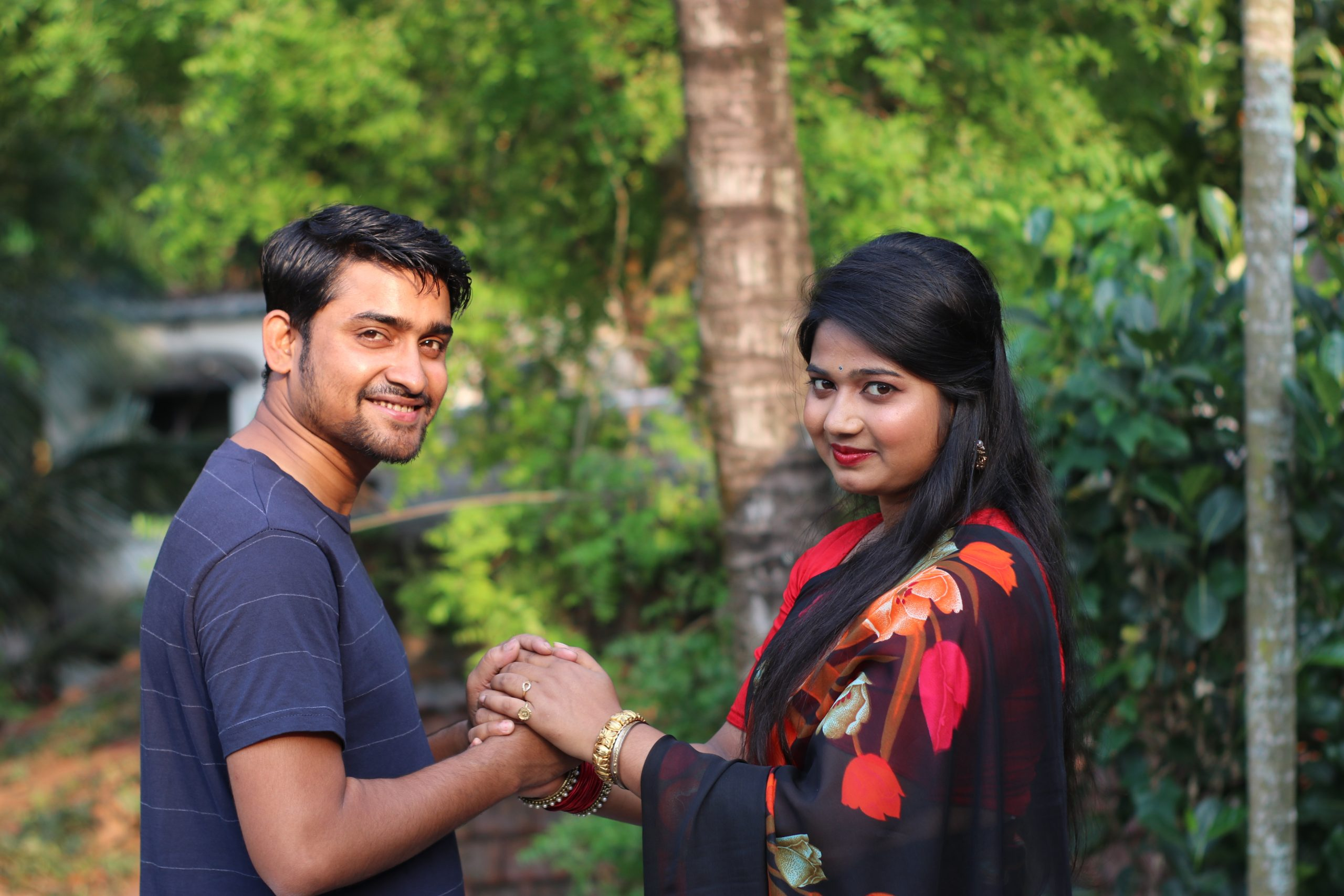 A happy Indian couple