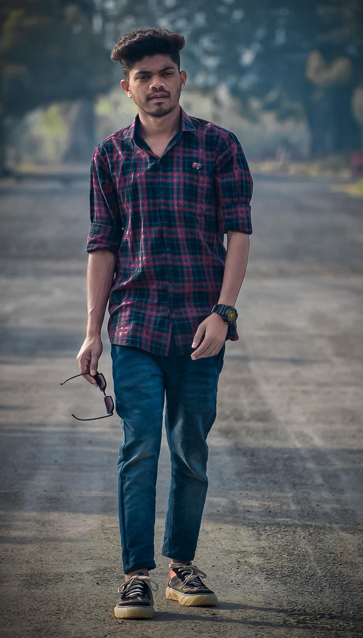 A male model