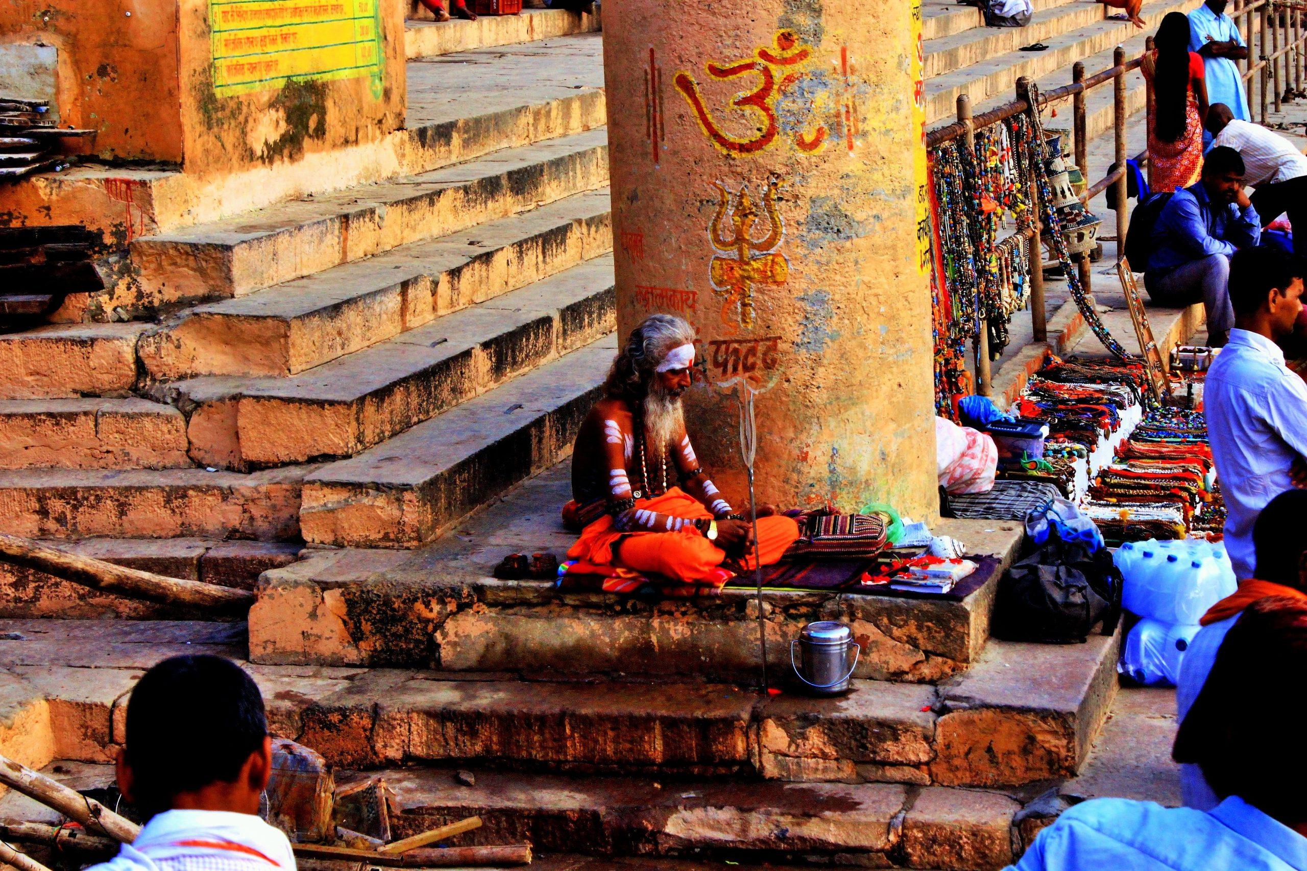 A monk at Varanasi