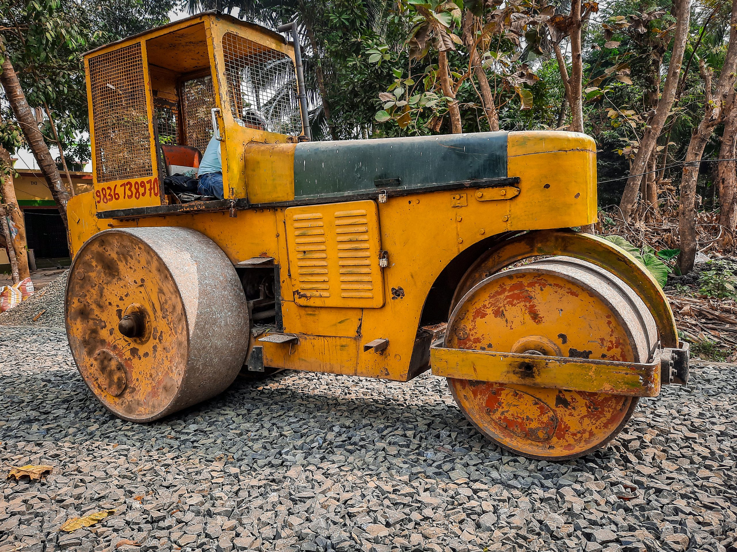 A road roller vehicle