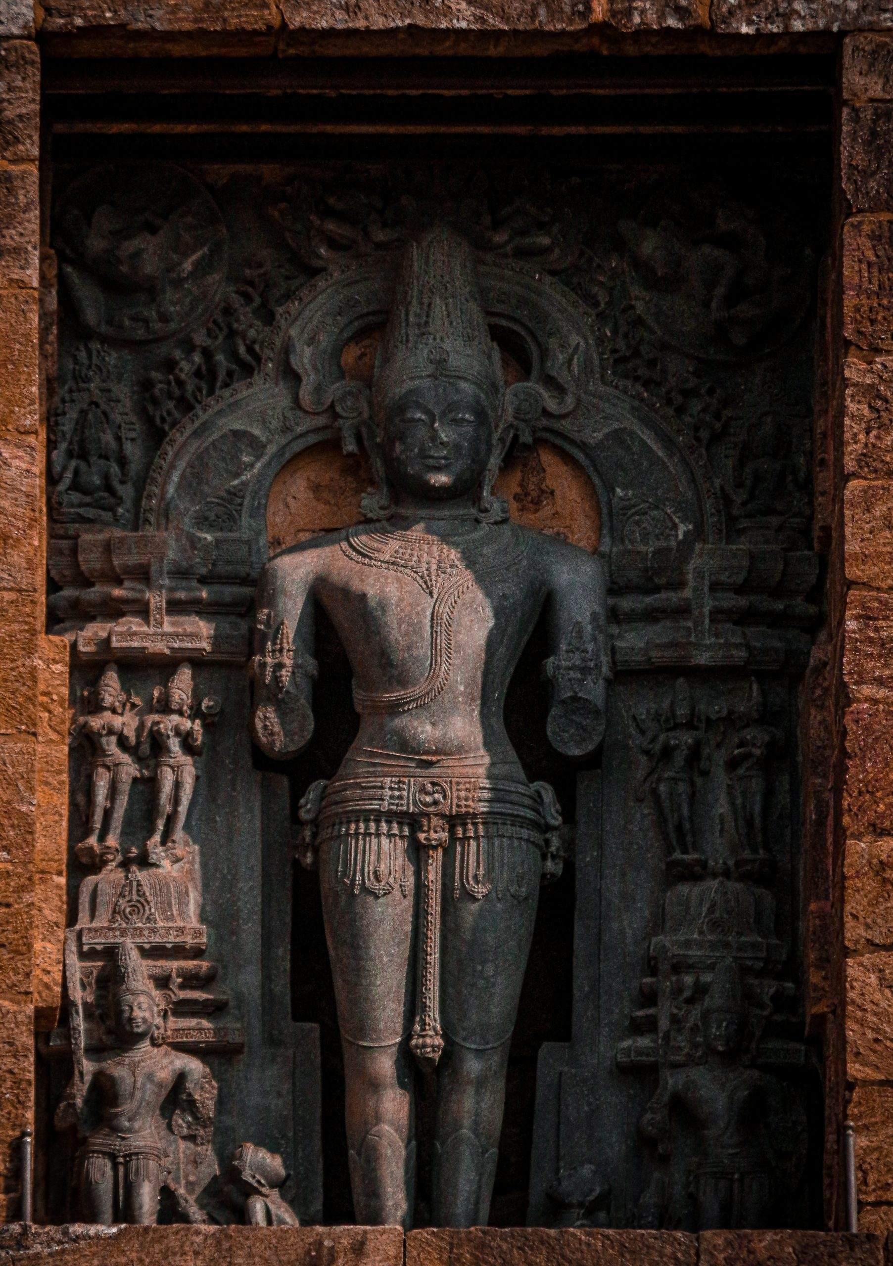 A sculpture in Ajanta and Ellora caves