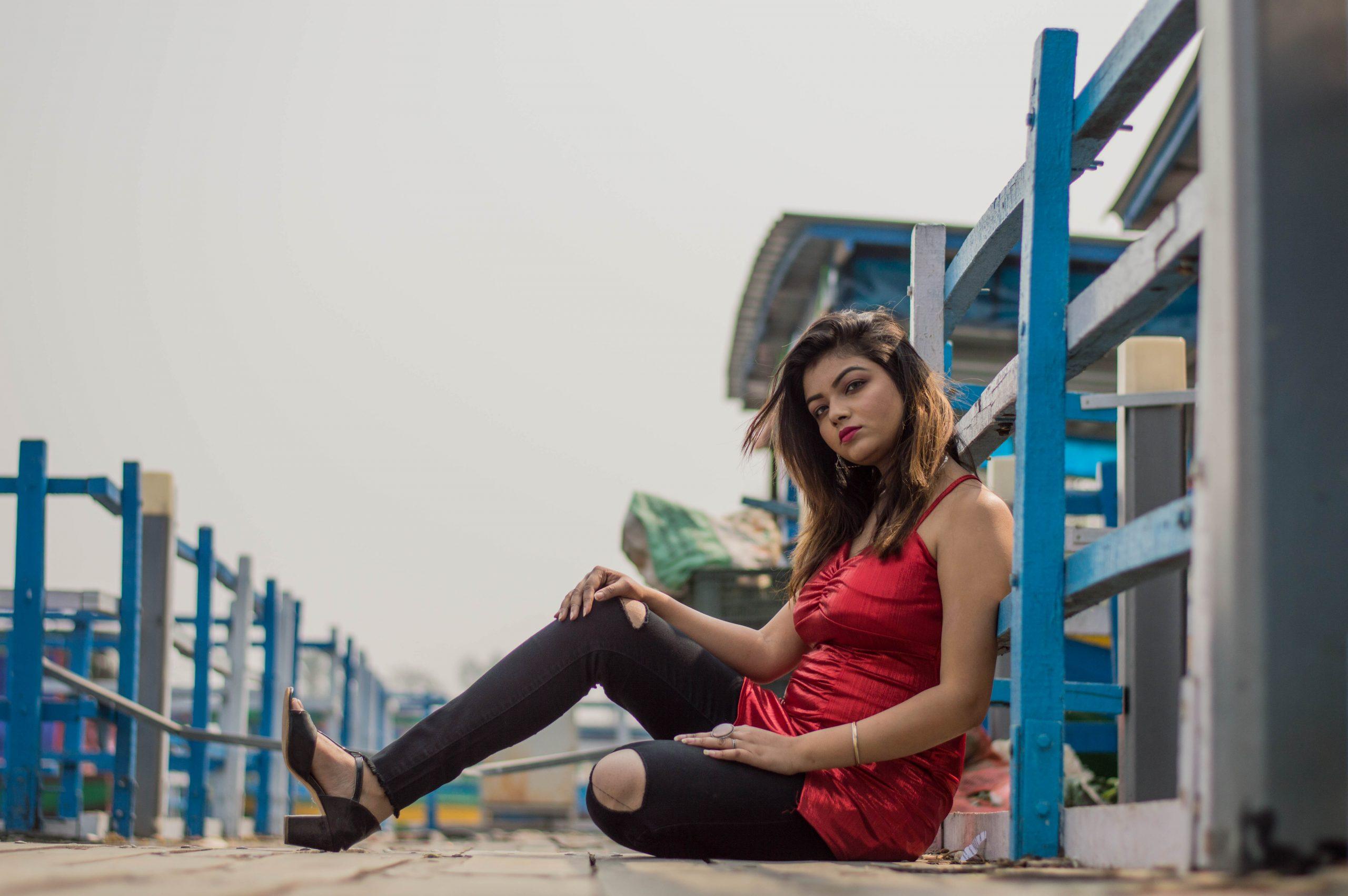 A stylish girl