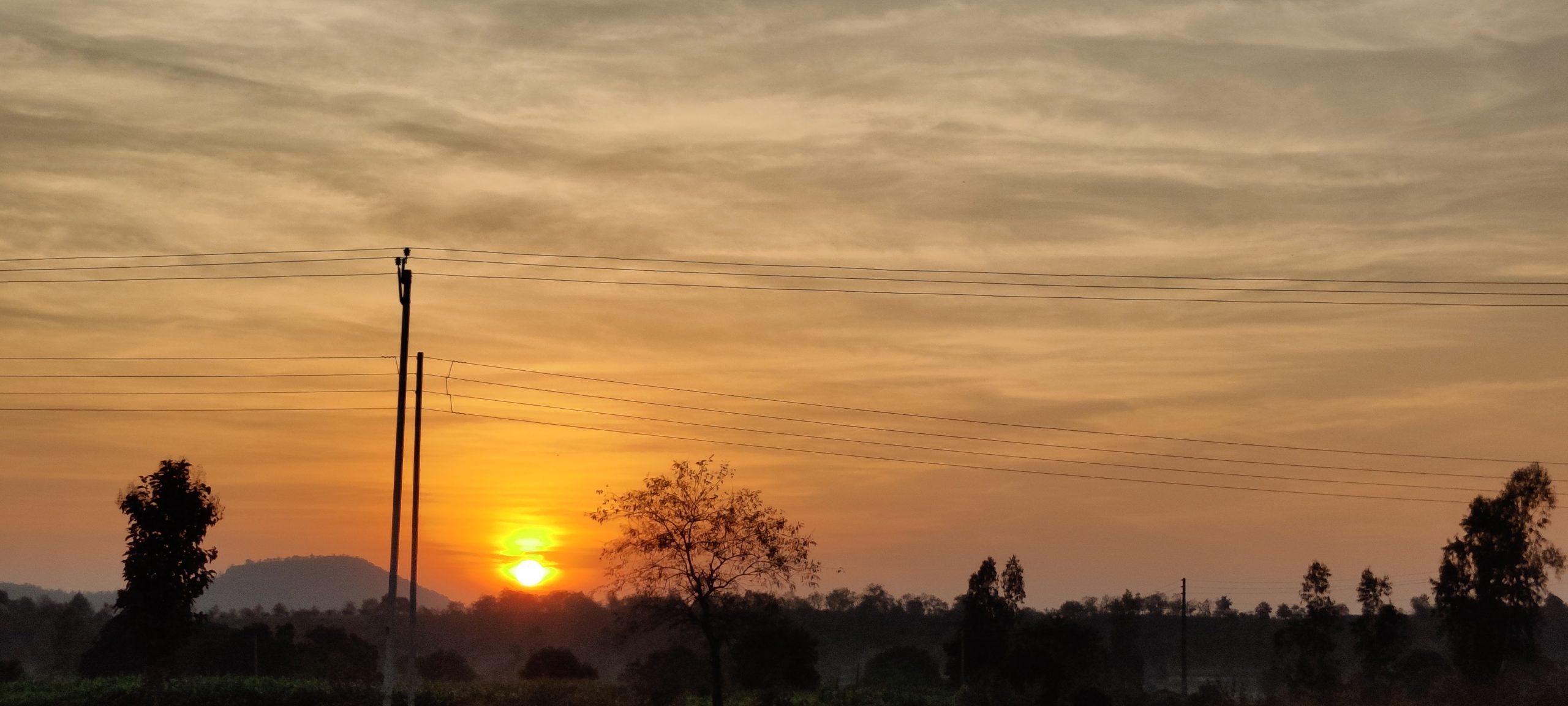 A sunrise view