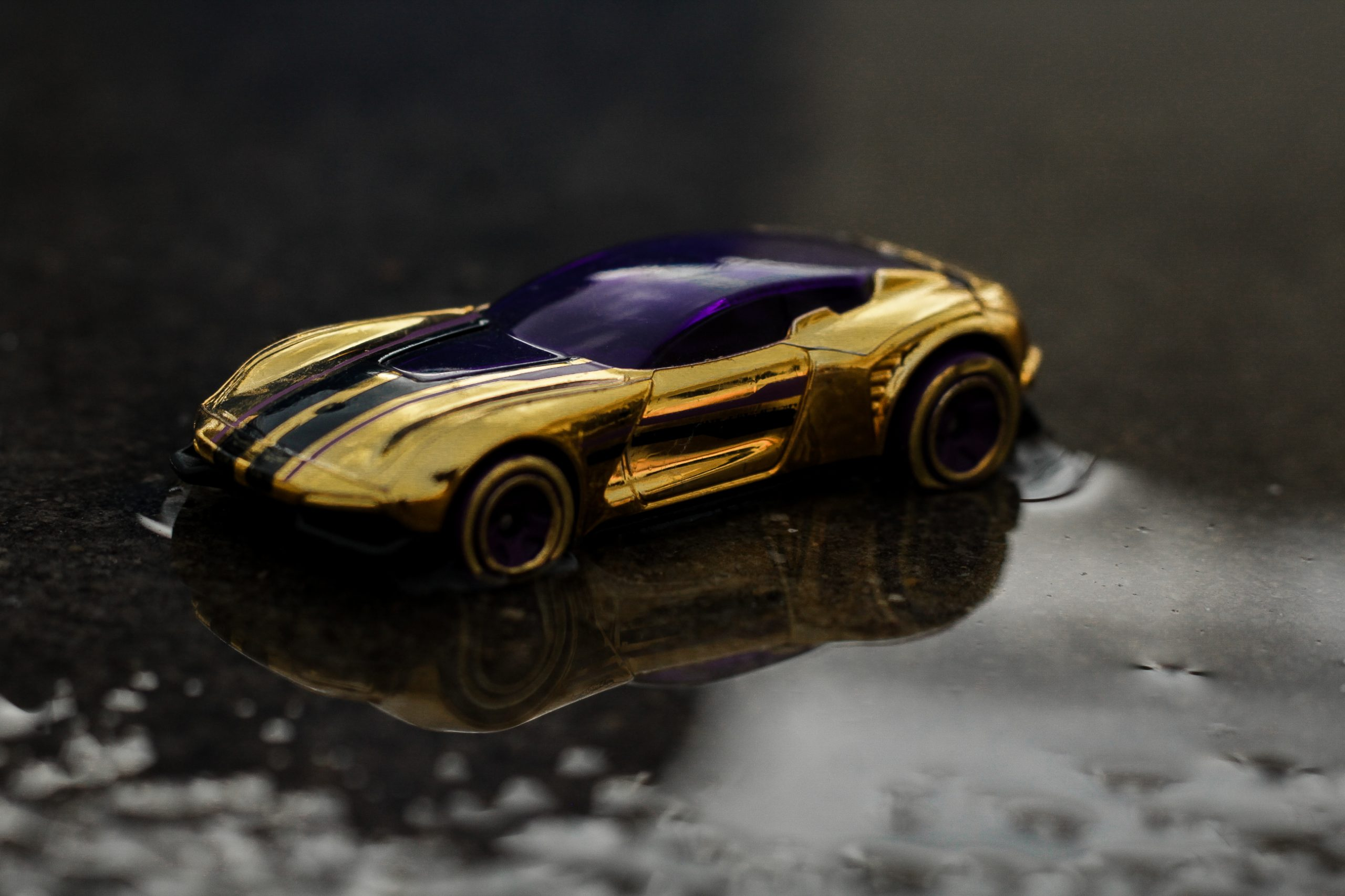 Toy car on the water