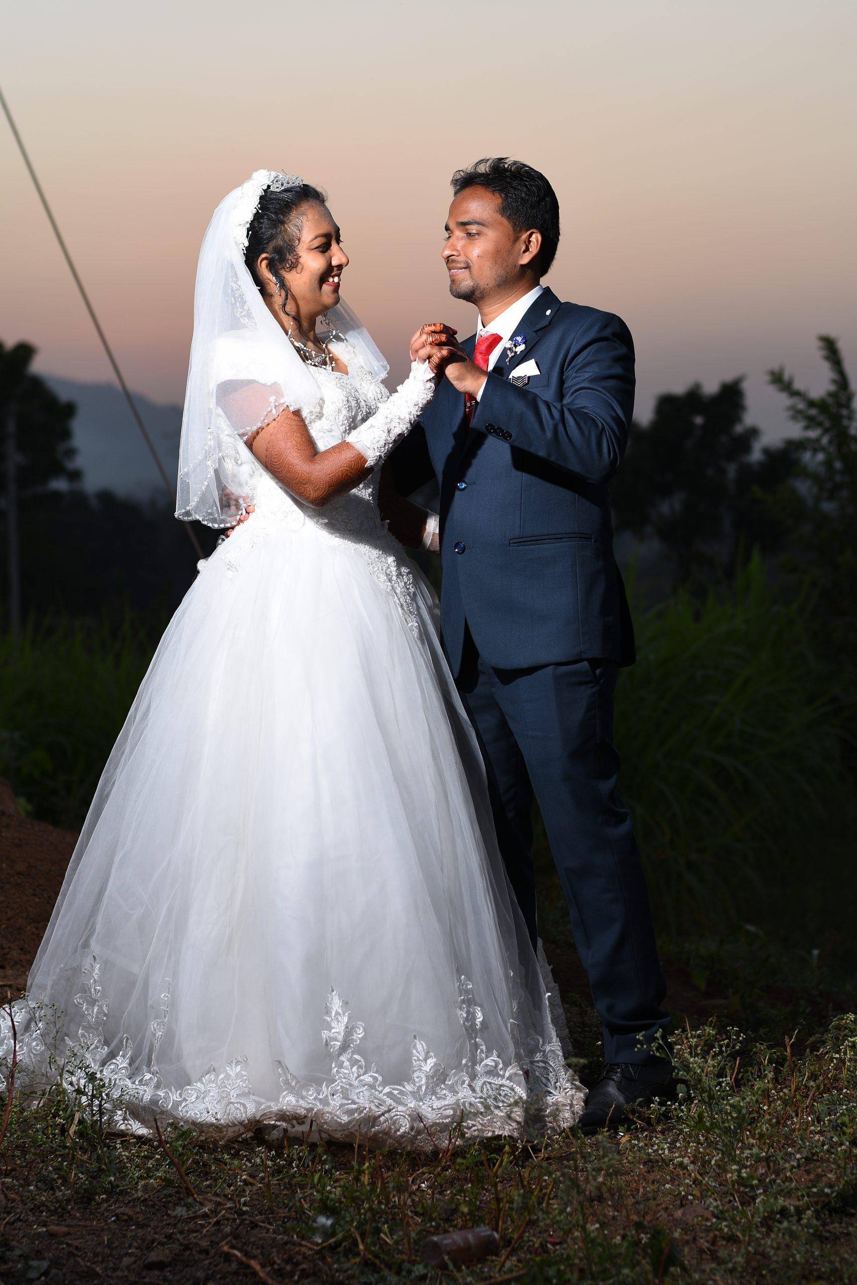 A wedding couple