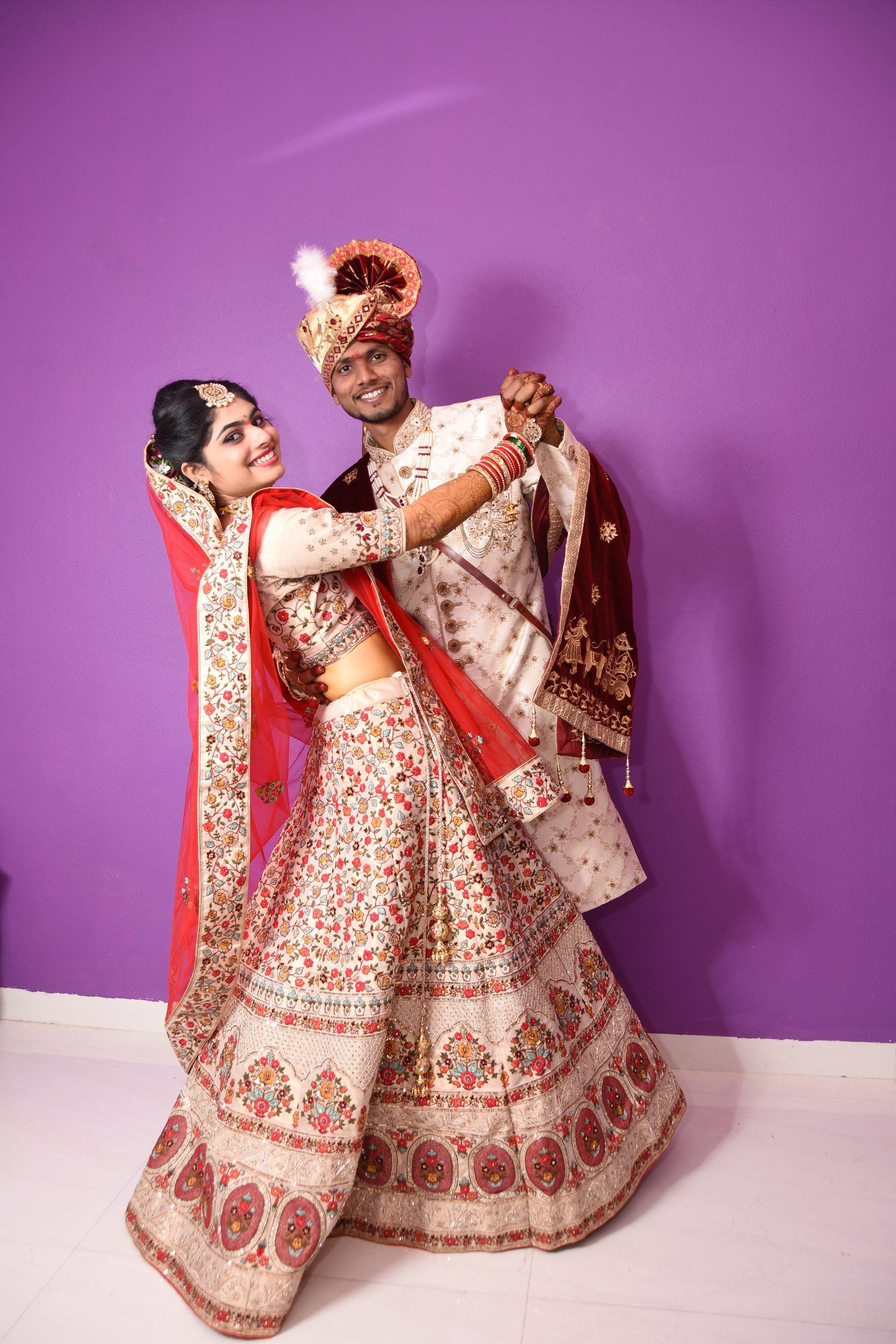 A wedding couple dance pose