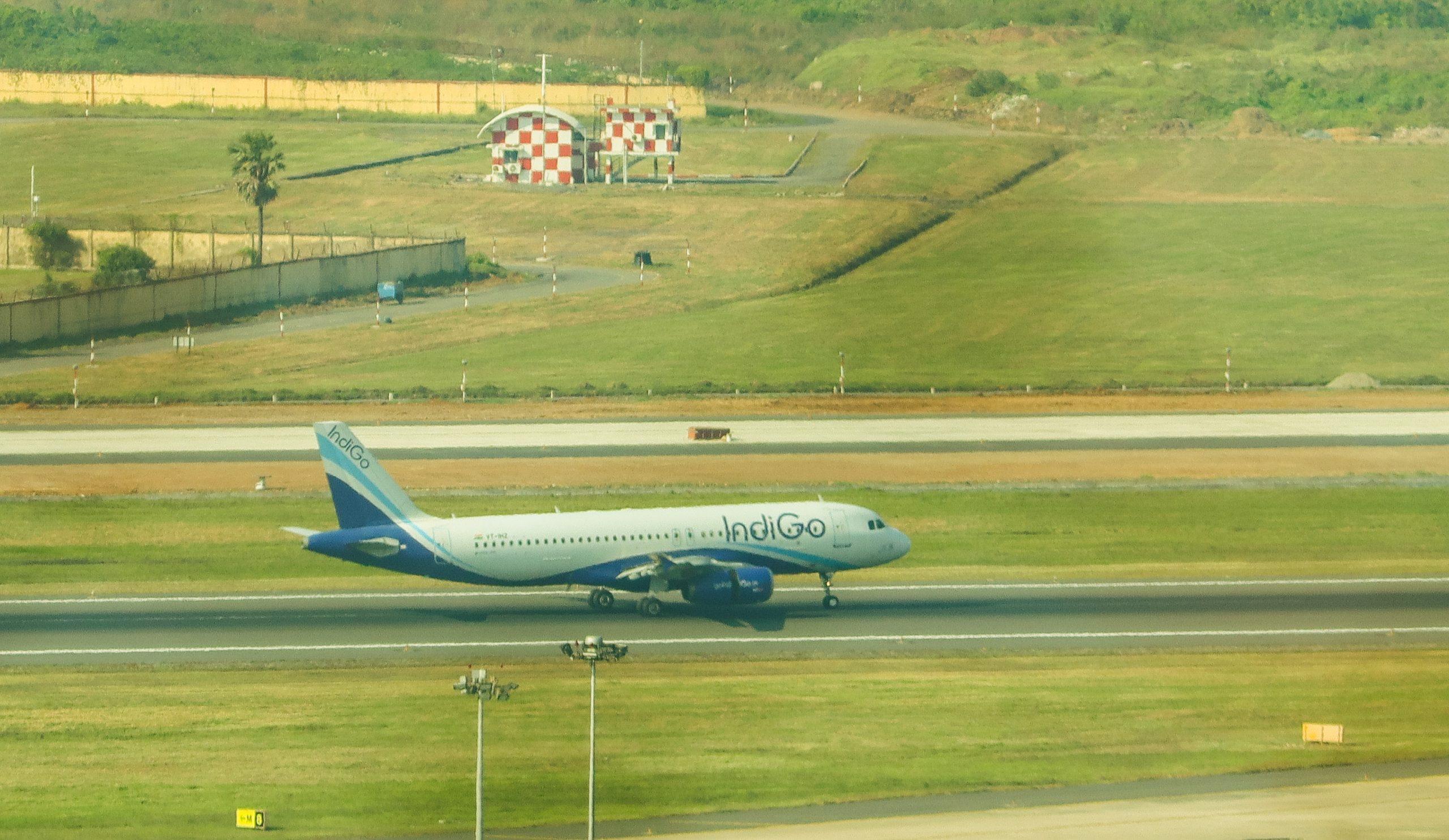 Aero plane on runway