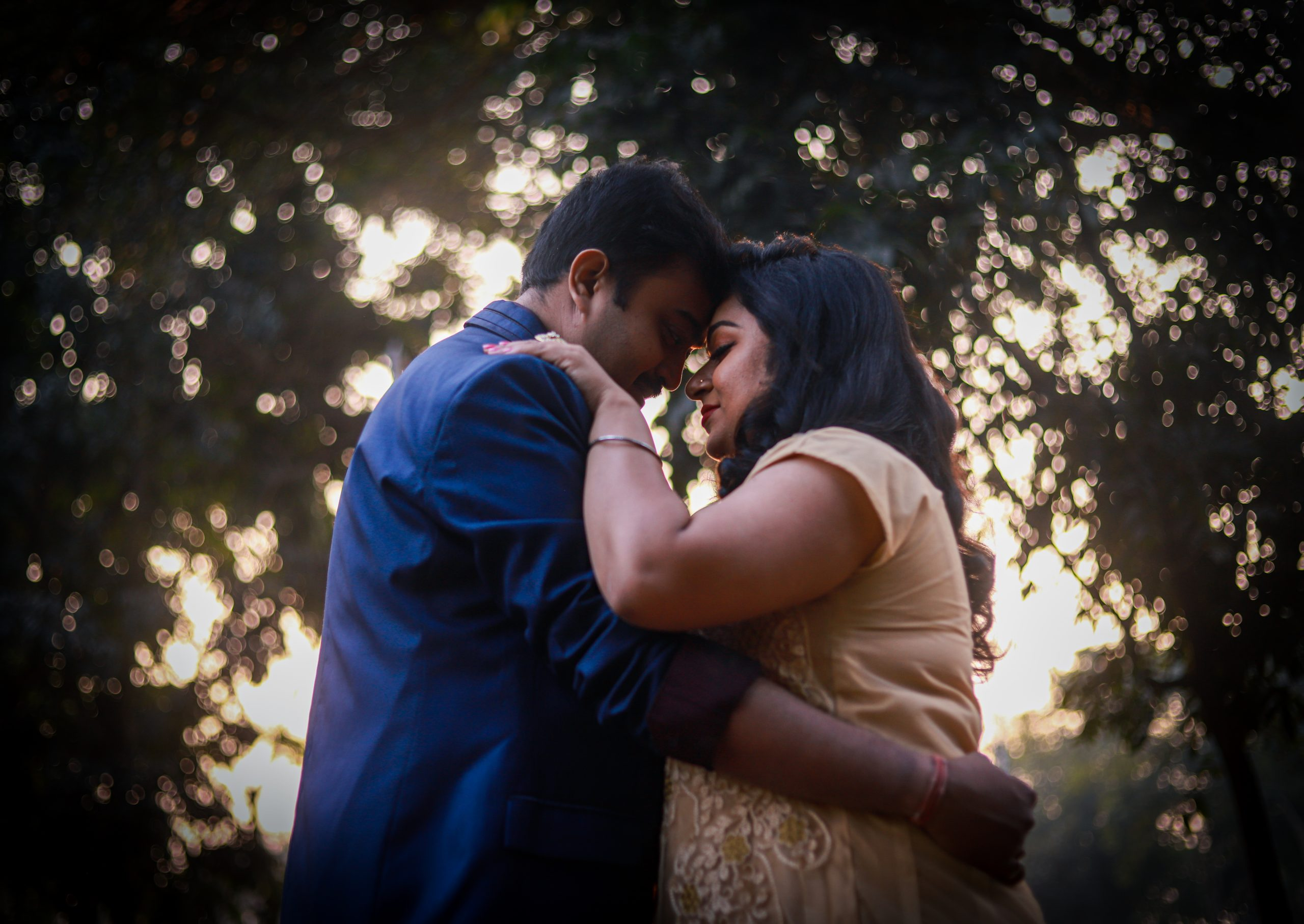 An Indian couple romance