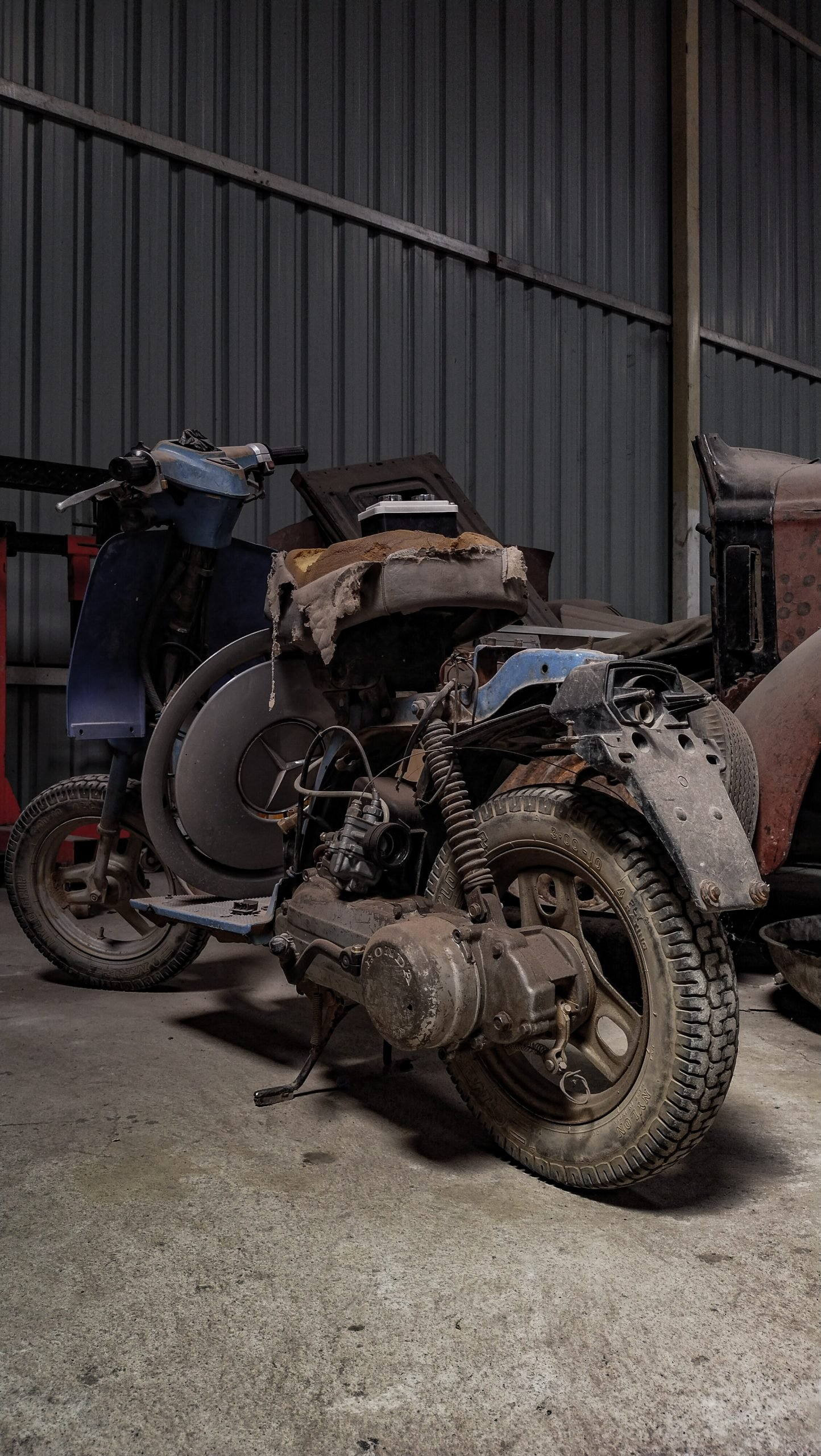 An old motorcycle