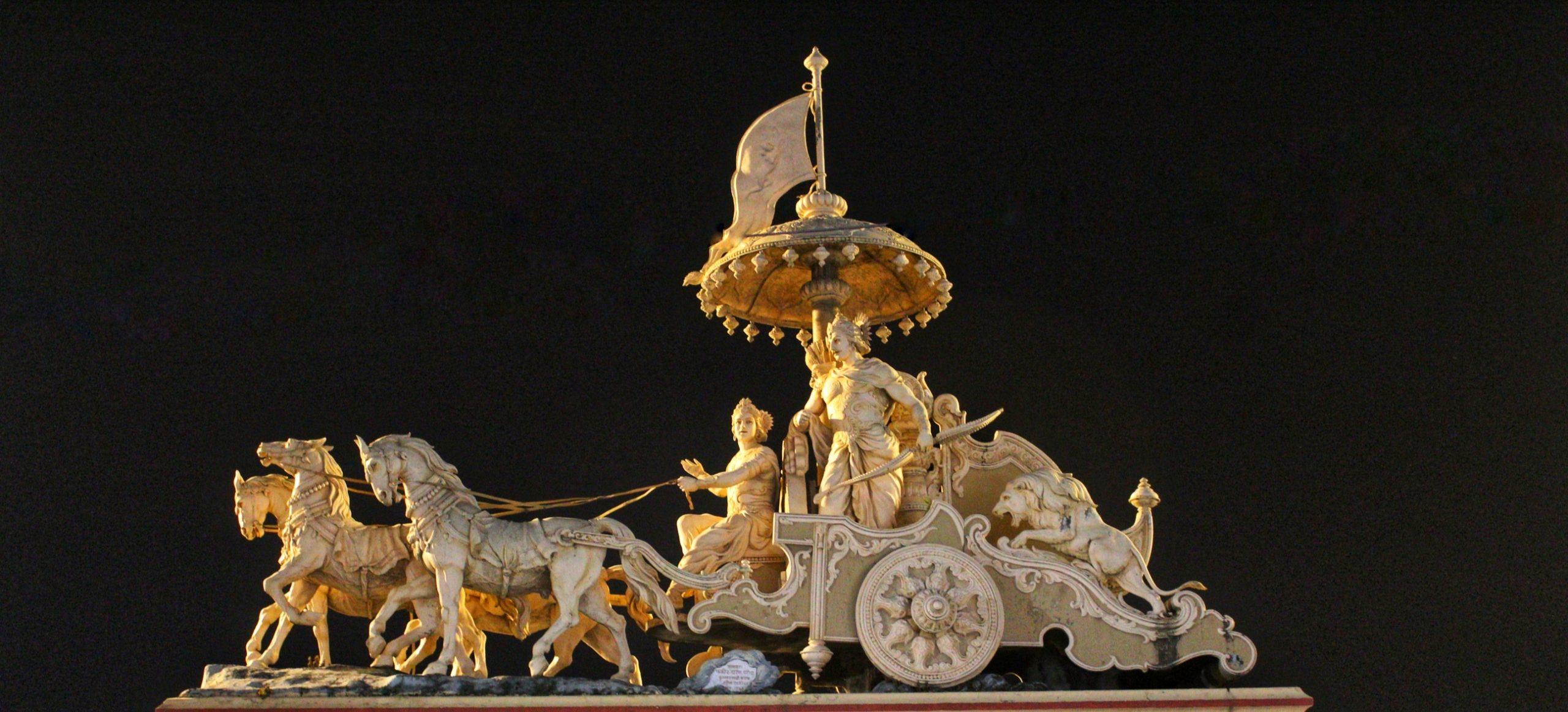 A miniature of Mahabharat Arjuna's cart