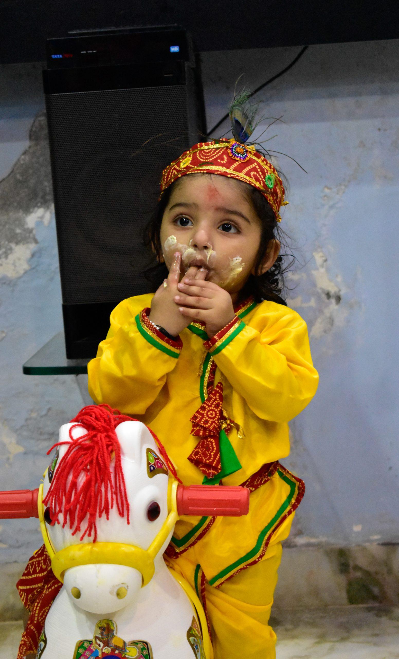 A baby Krishna