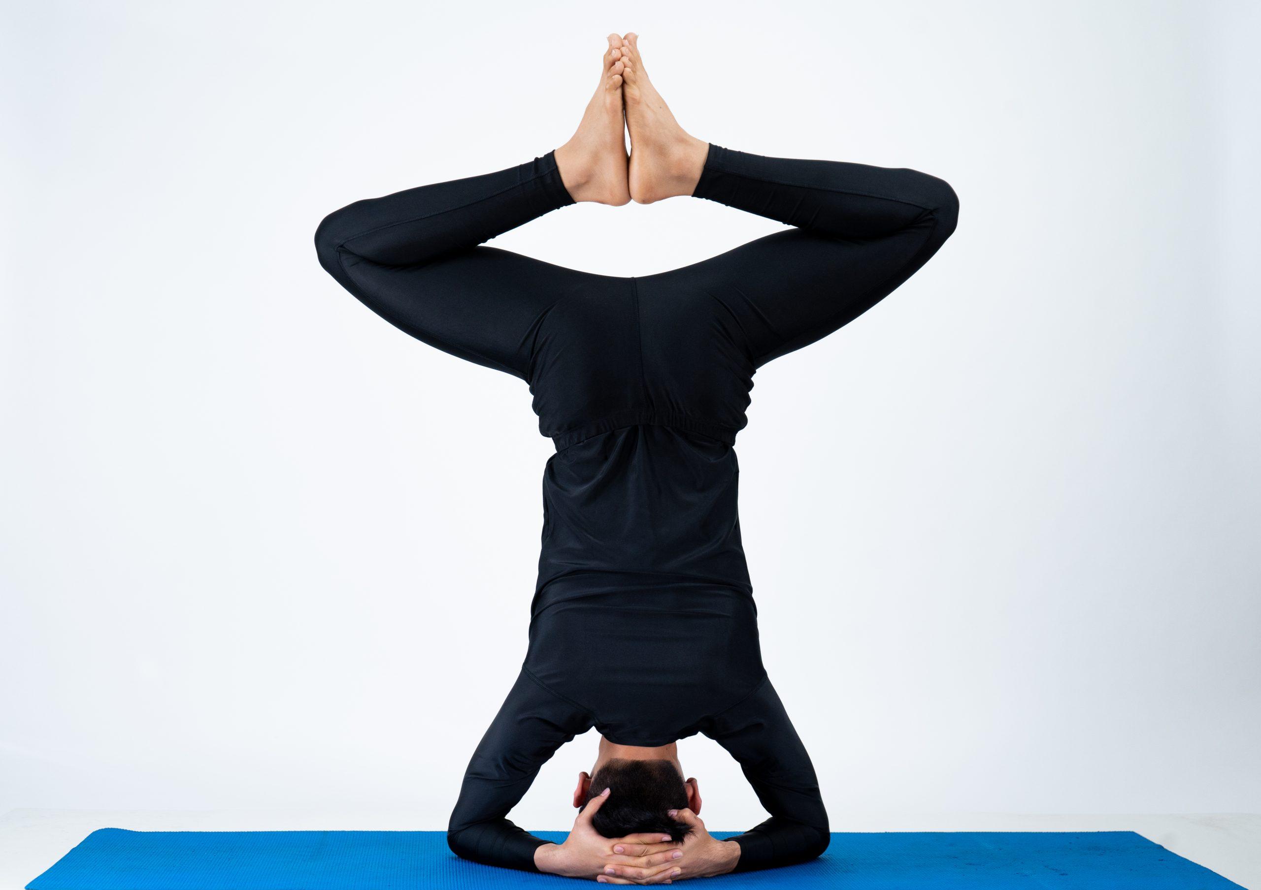 Baddha Kona Sirsasana (Bound Angle Headstand Pose)
