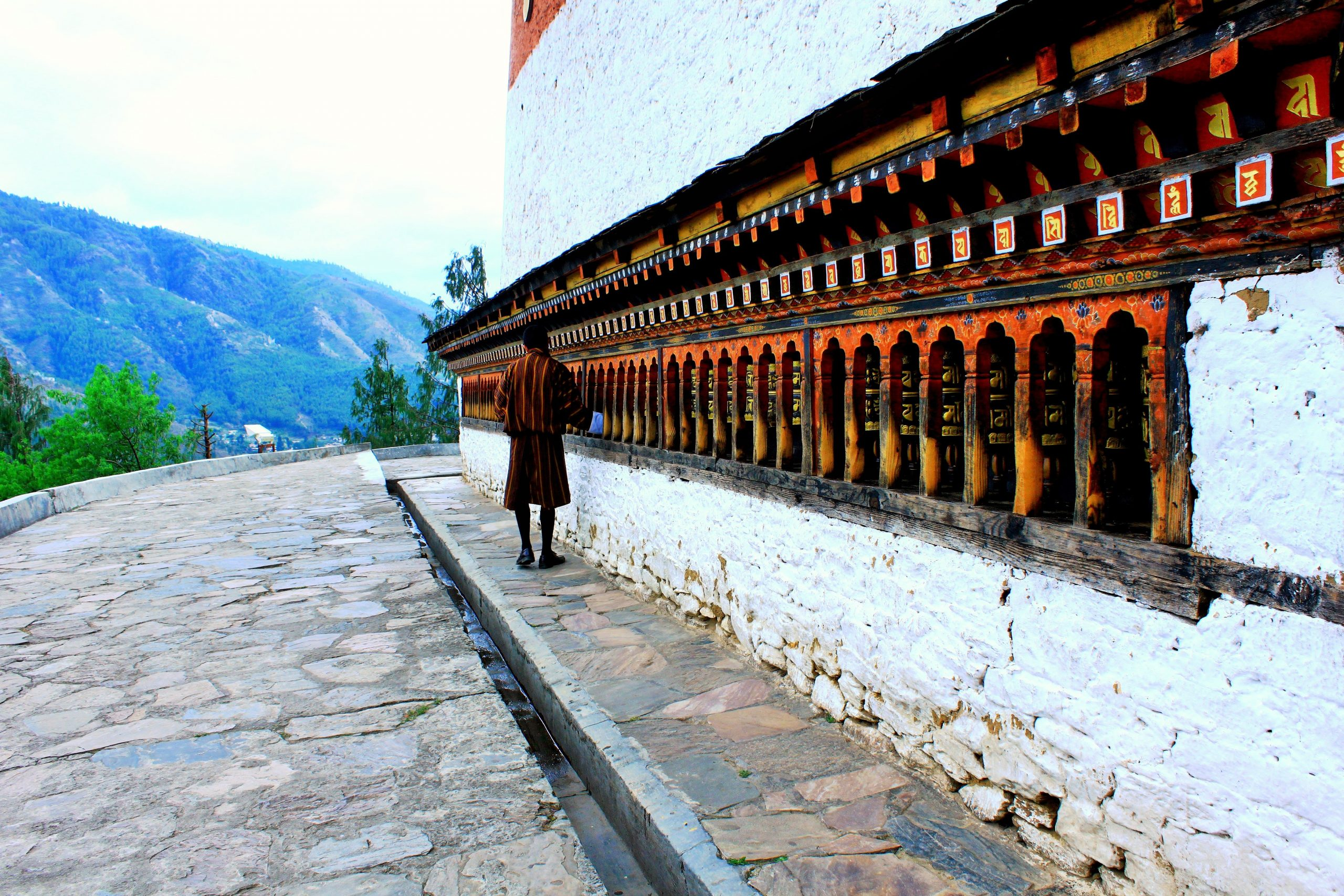Man in a monastery