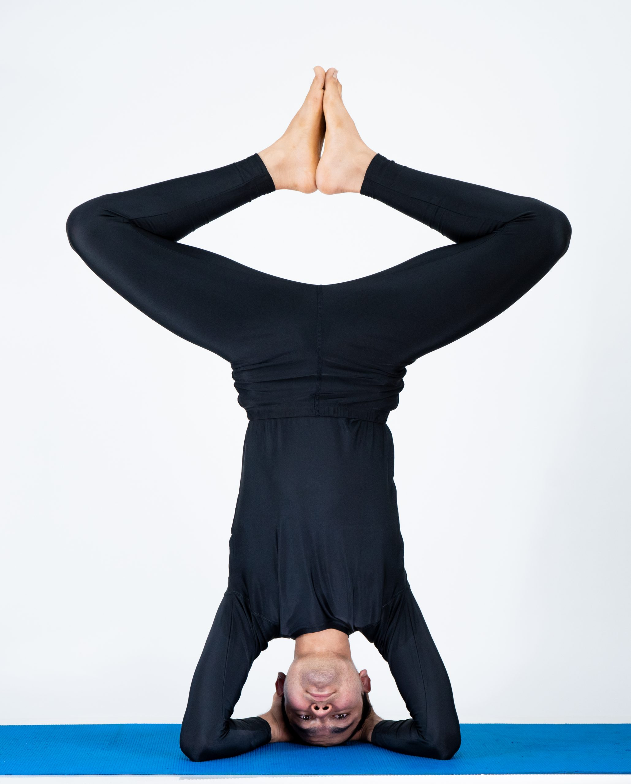 Boy doing Headstand
