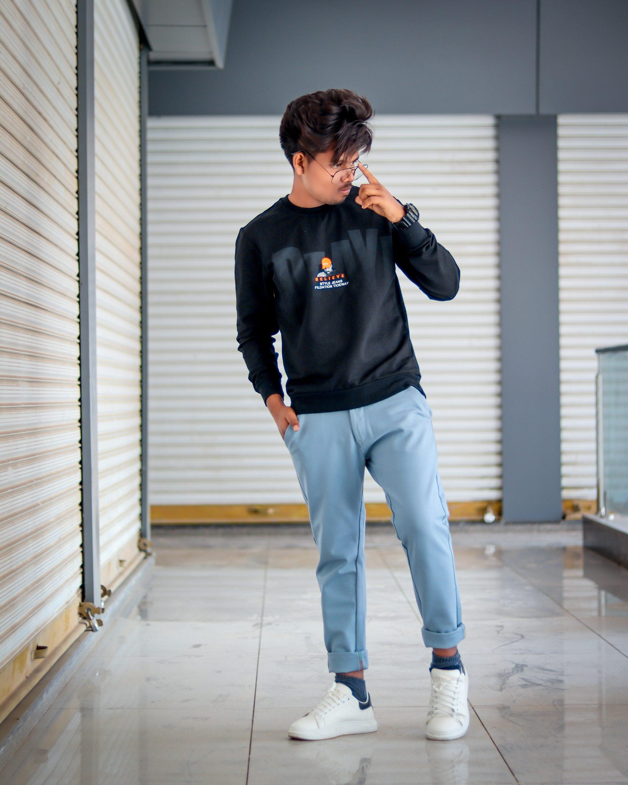 Boy posing with specs