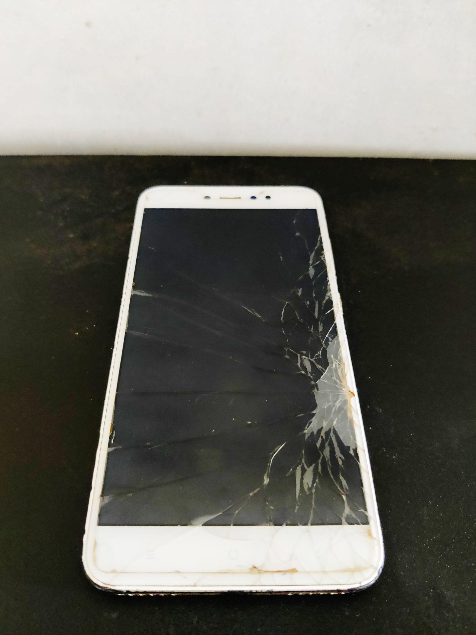 Broken screen of mobile