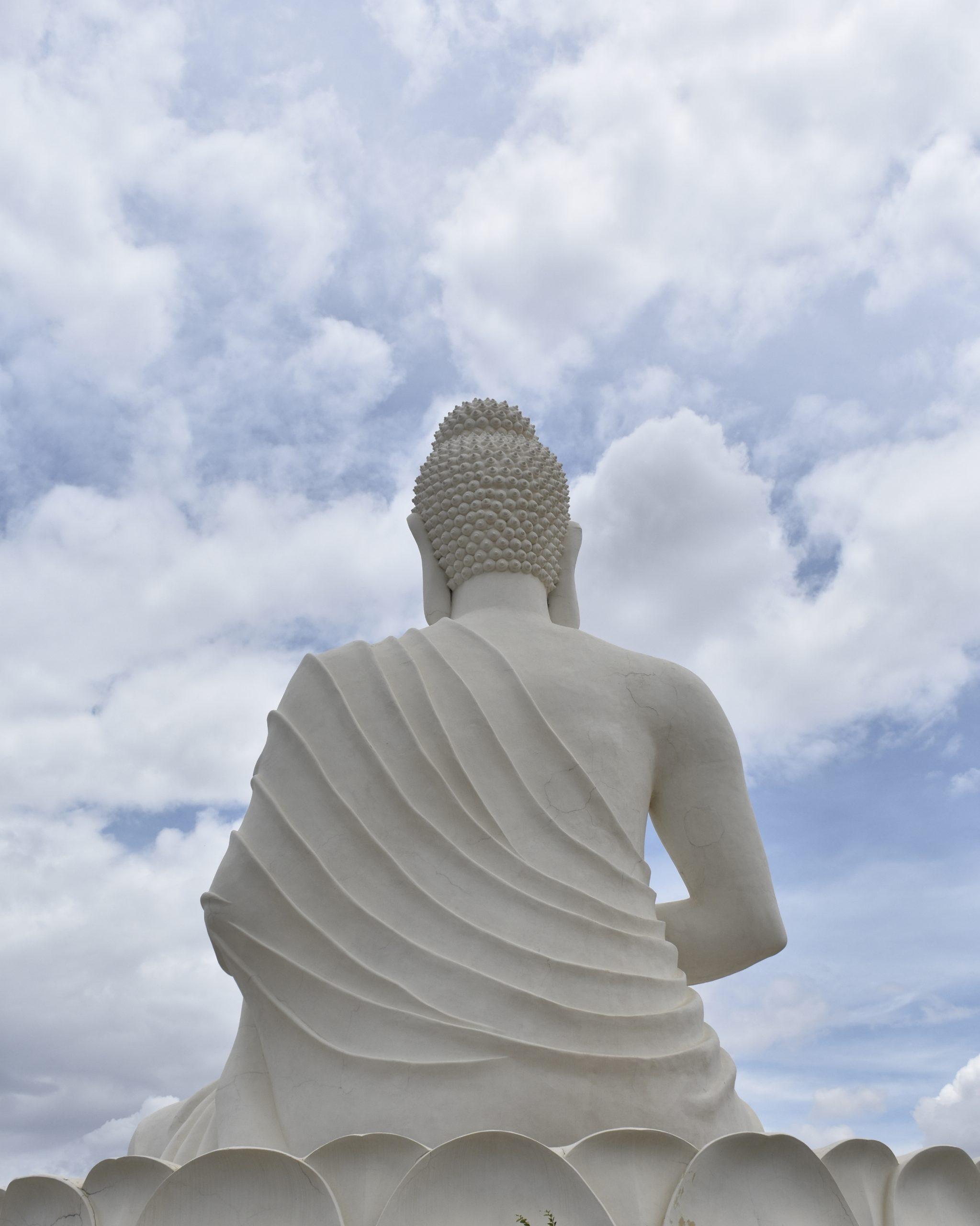 Buddha statue back view