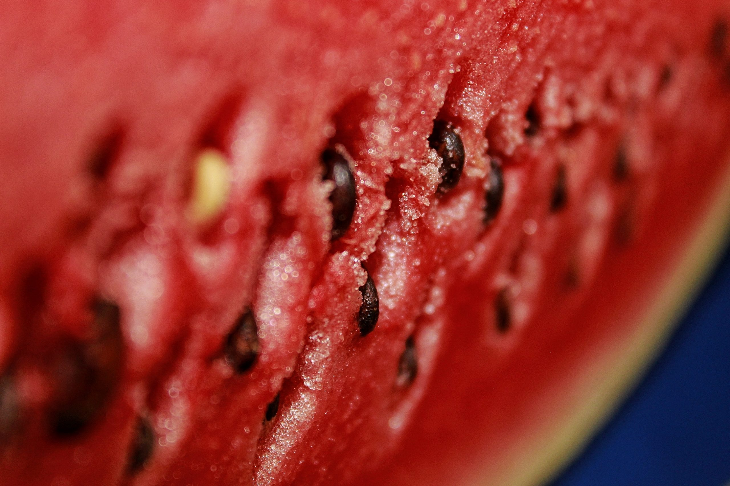 Closeup of a watermelon