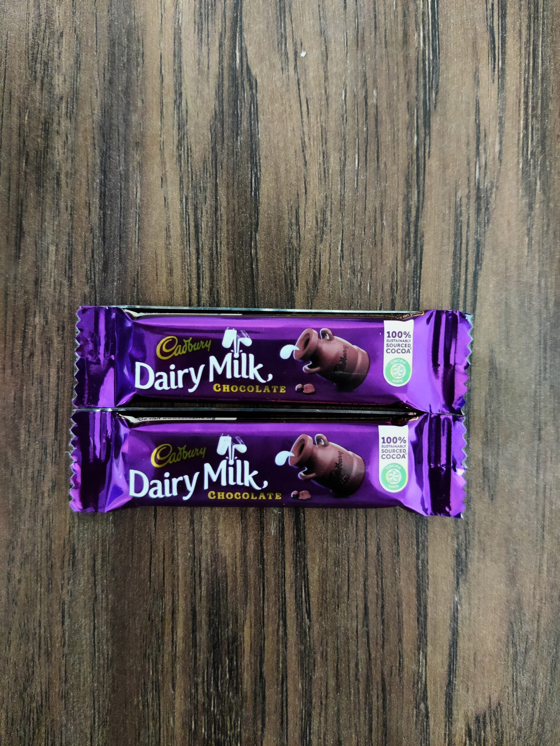 Dairy milk on table
